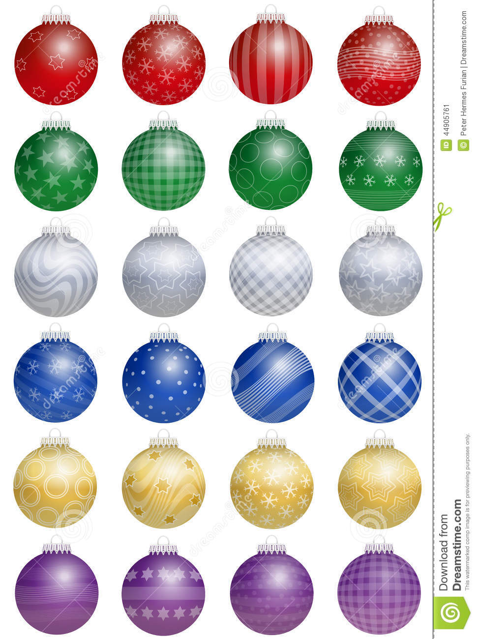 Christmas tree balls colorful stock vector image