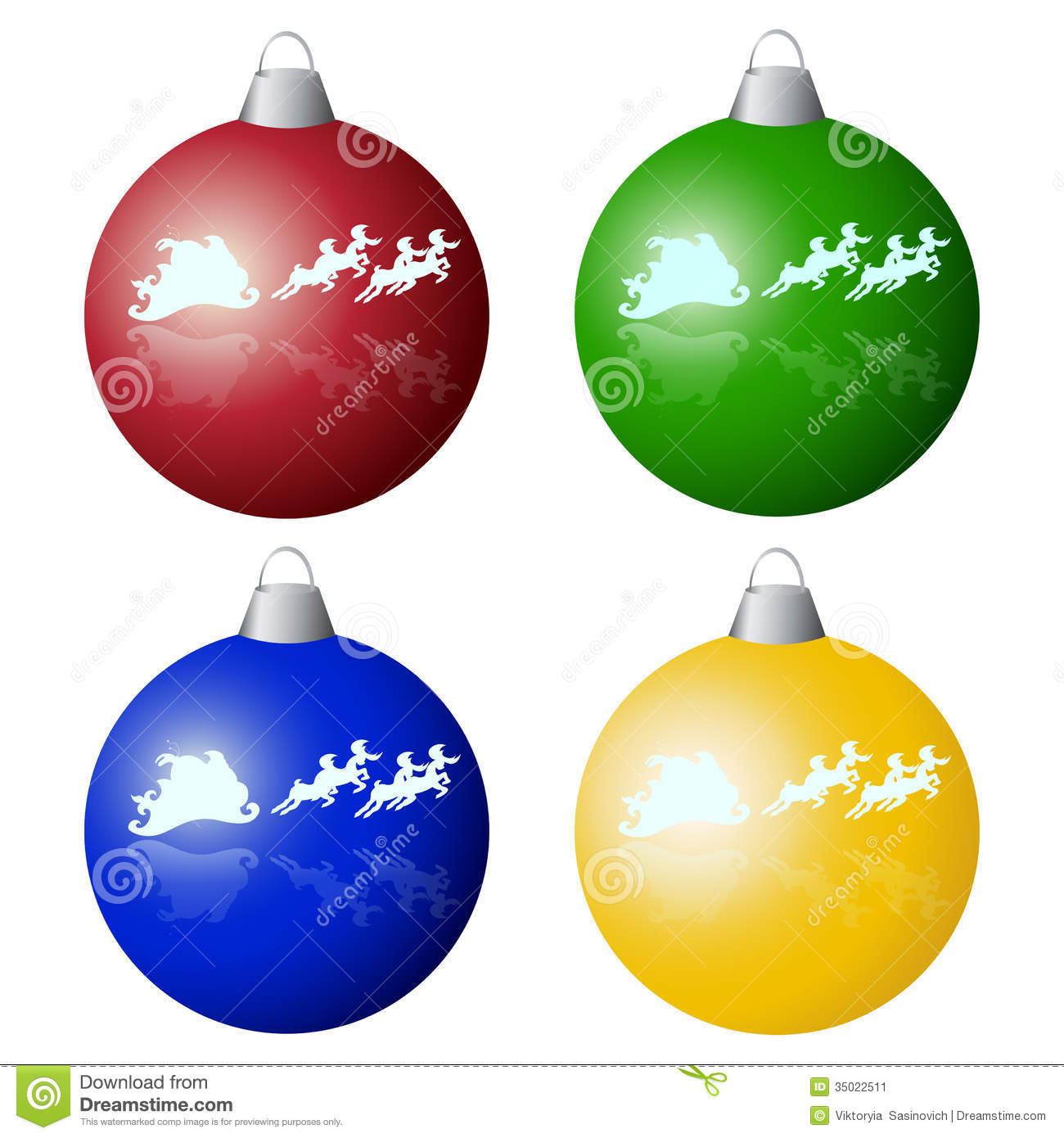 Christmas tree balls stock vector illustration of santa