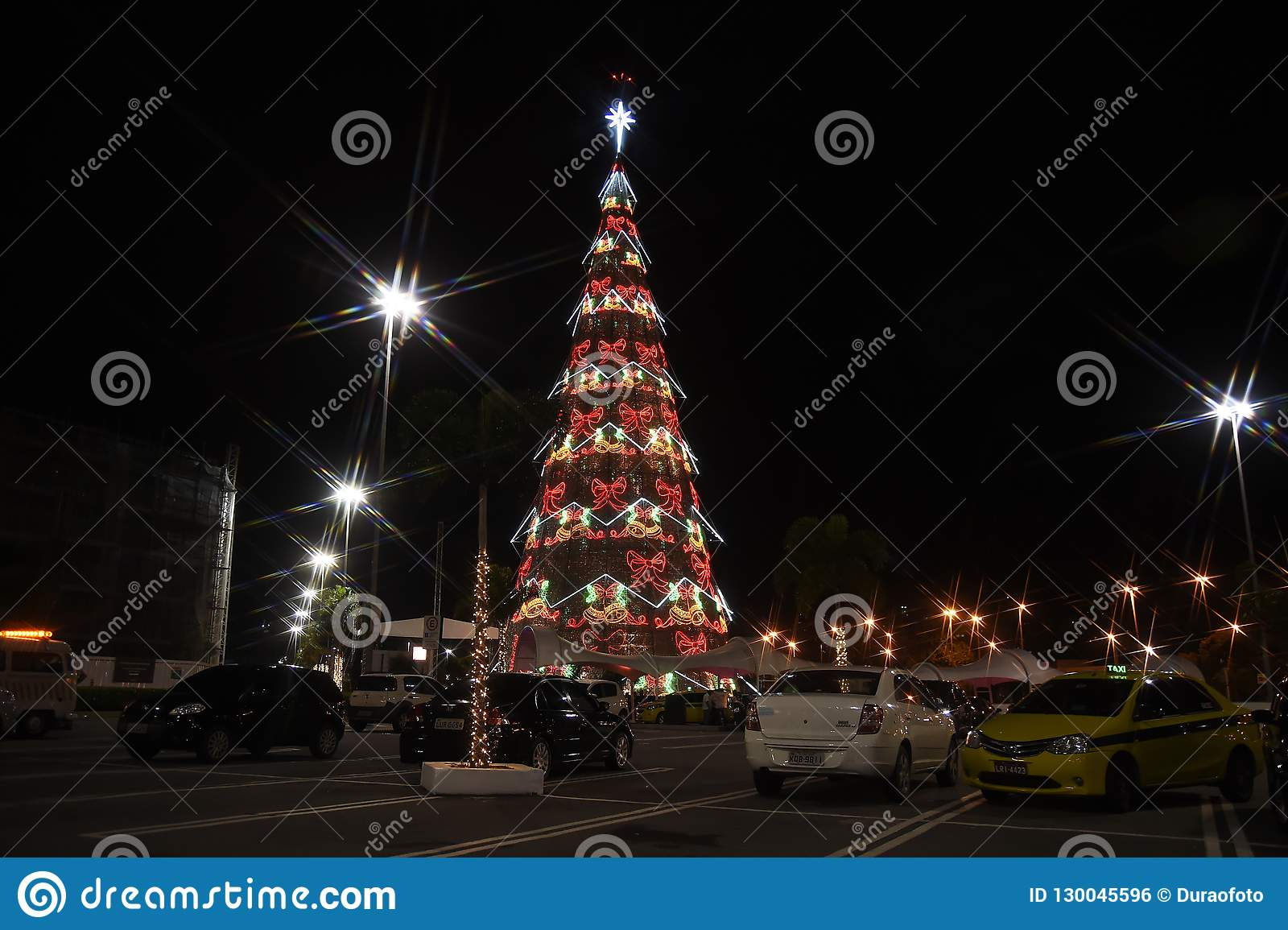 Christmas In Brazil.Christmas Tree Barrashopping Editorial Photo Image Of