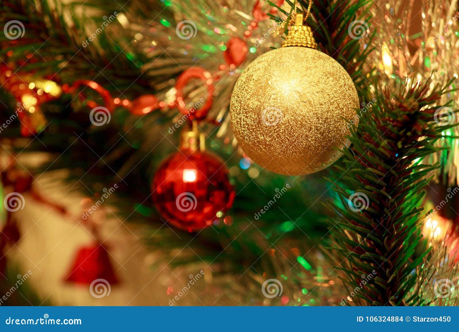 Christmas Tree With Beautiful Christmas Balls. Stock Photo - Image ...