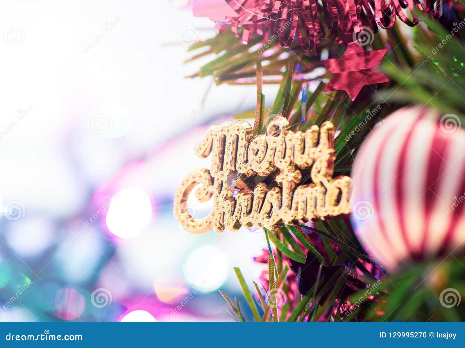 Christmas Tree With Beautiful Xmas Decoration Stock Photo - Image of ...