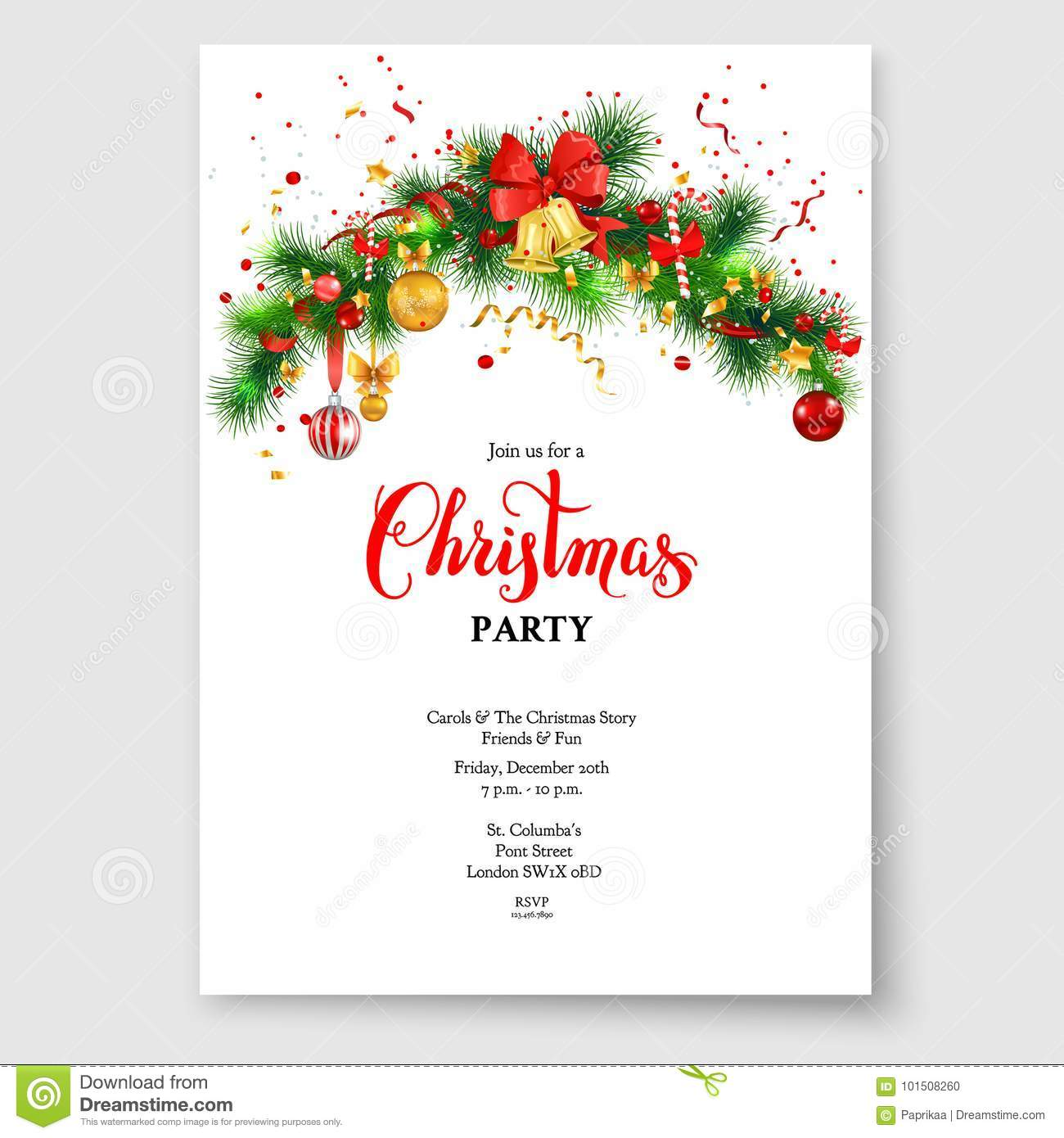 Sample Christmas Tree Decorating Ideas: Christmas Tree And Bells Stock Vector. Illustration Of
