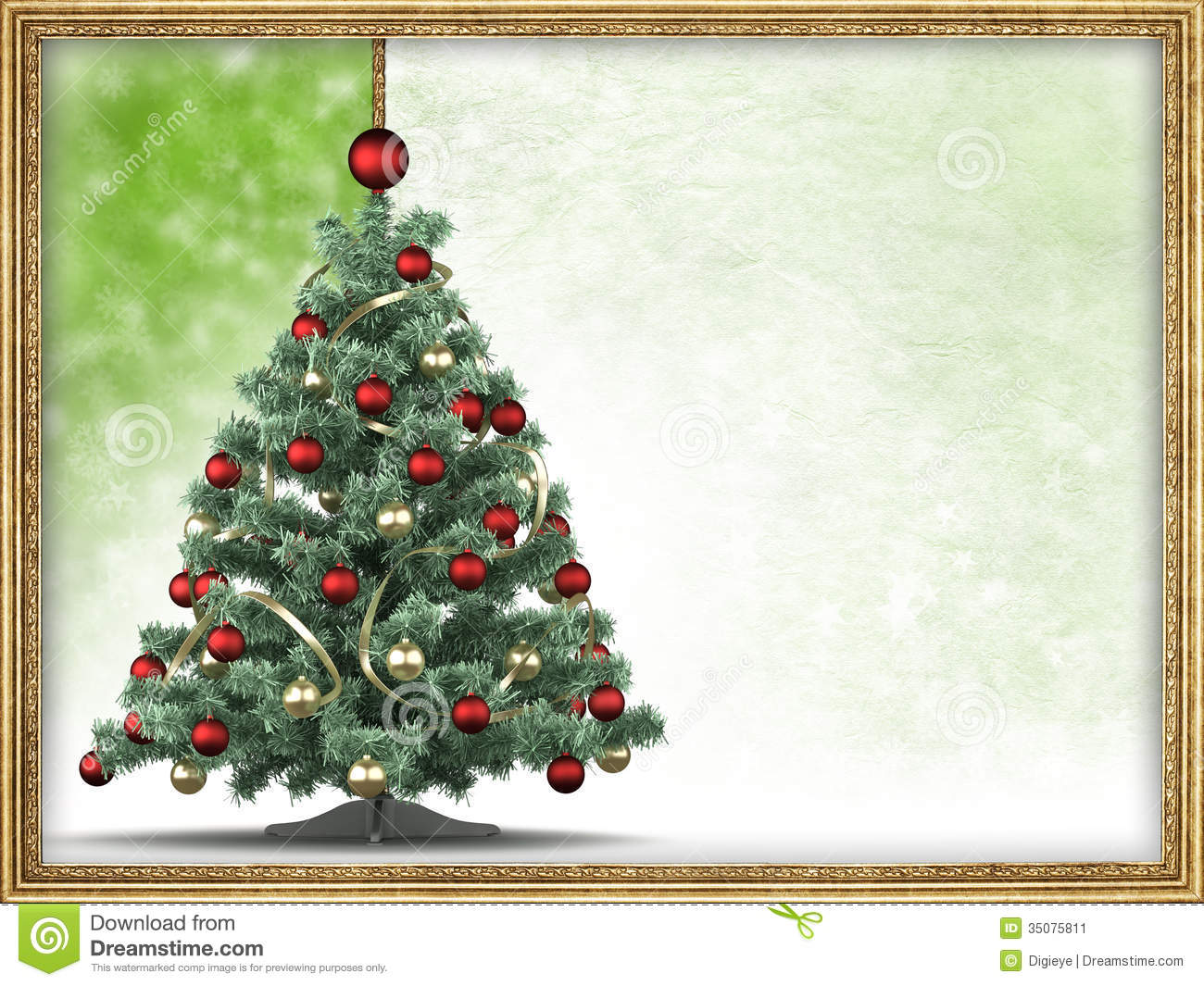 Christmas Tree Blank Space Text Picture Frame
