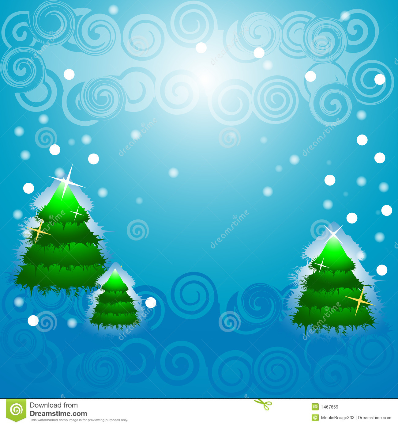 Christmas Tree, Blinking Snow Royalty Free Stock Images - Image ...