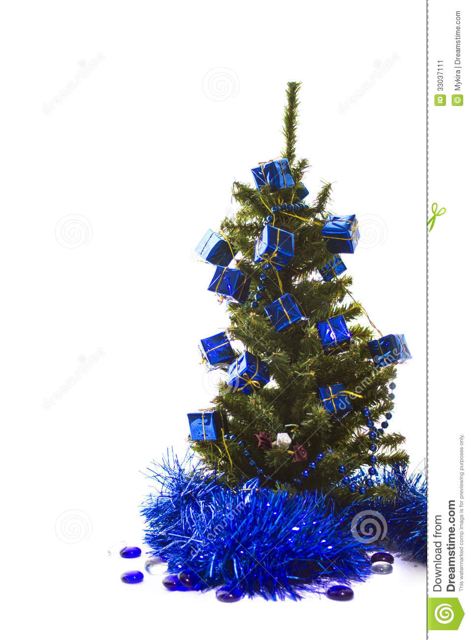 Blue christmas trees decorating ideas - Blue Christmas Isolated Tree White Cold Winter Section Symbol Greeting Decoration