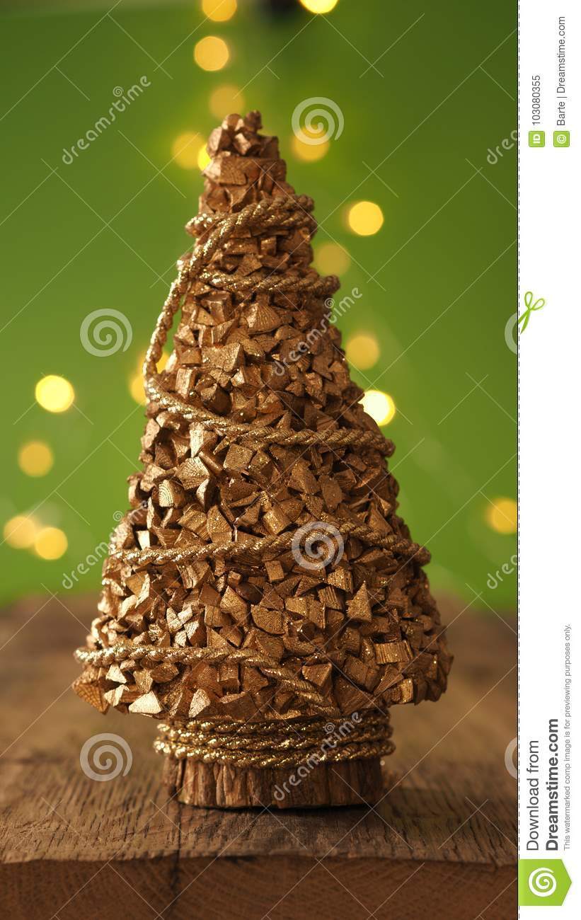 Christmas Tree With Blurred Lights Stock Image - Image of color ...