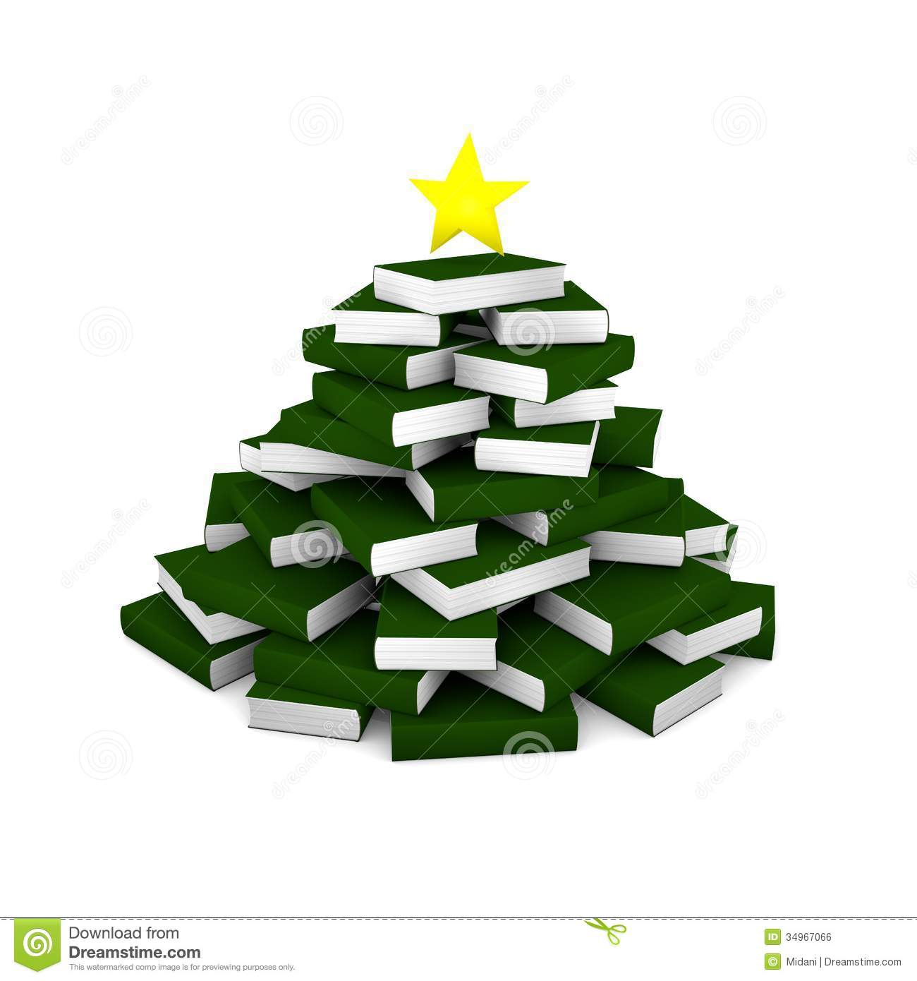 royalty free stock photo download christmas tree of books - Christmas Tree Book