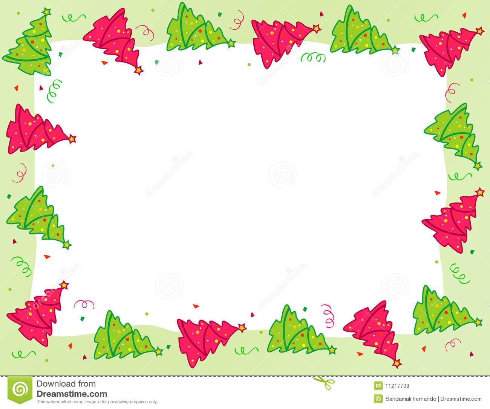 Royalty Free Stock Photos  Christmas Tree borderChristmas Tree Border