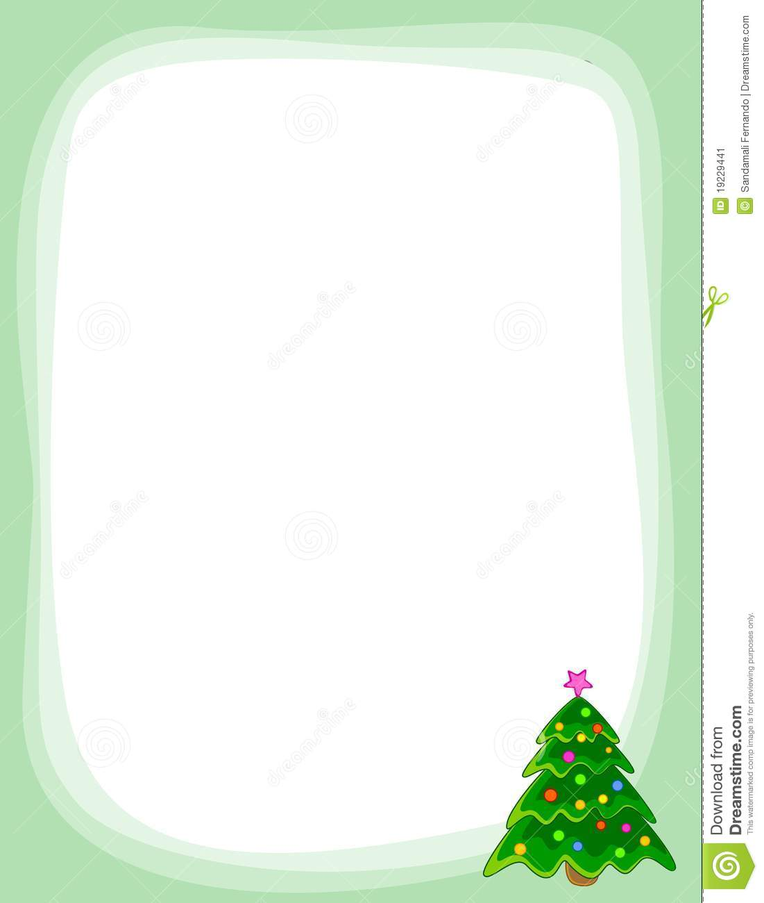 Christmas border / frame with beautiful decorated christmas tree.