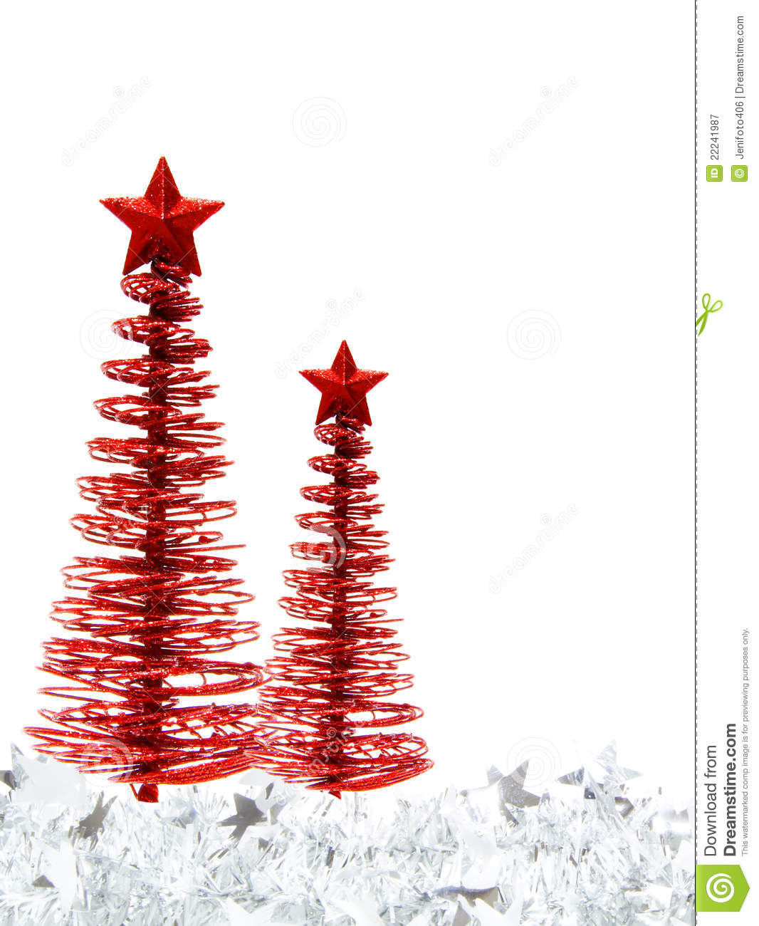 Christmas Tree Border Stock Image Of Ornaments
