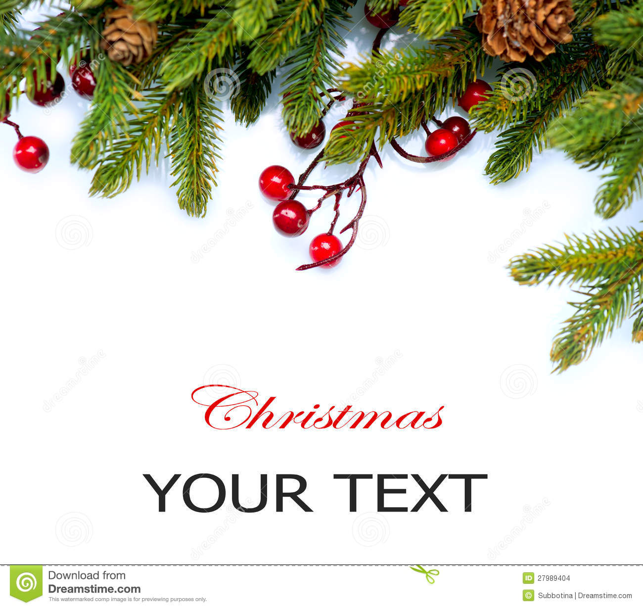 Christmas Tree Border Design Stock Photo - Image of ...