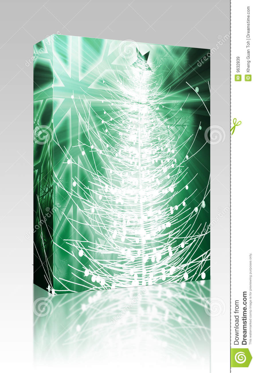 Christmas tree box package royalty free stock images for Christmas tree in a box