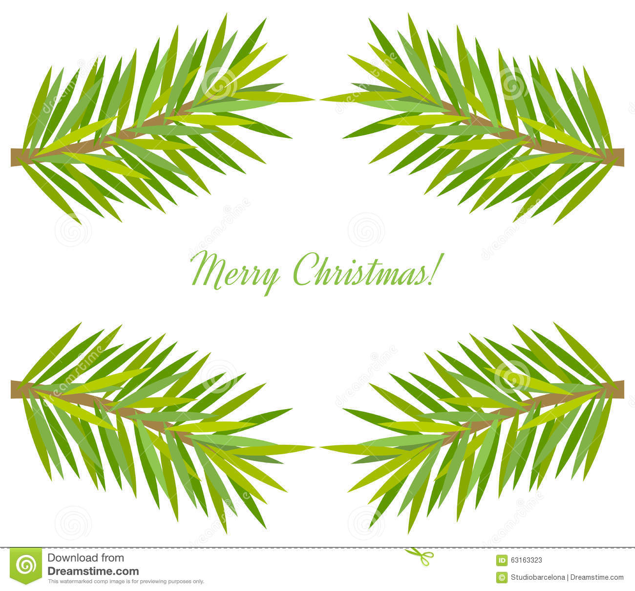 christmas tree branch vector - photo #13