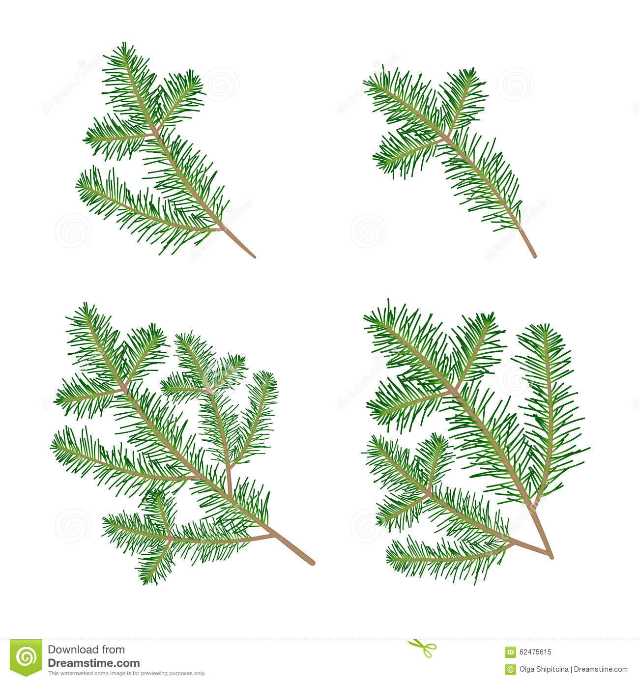 christmas tree branch vector - photo #20