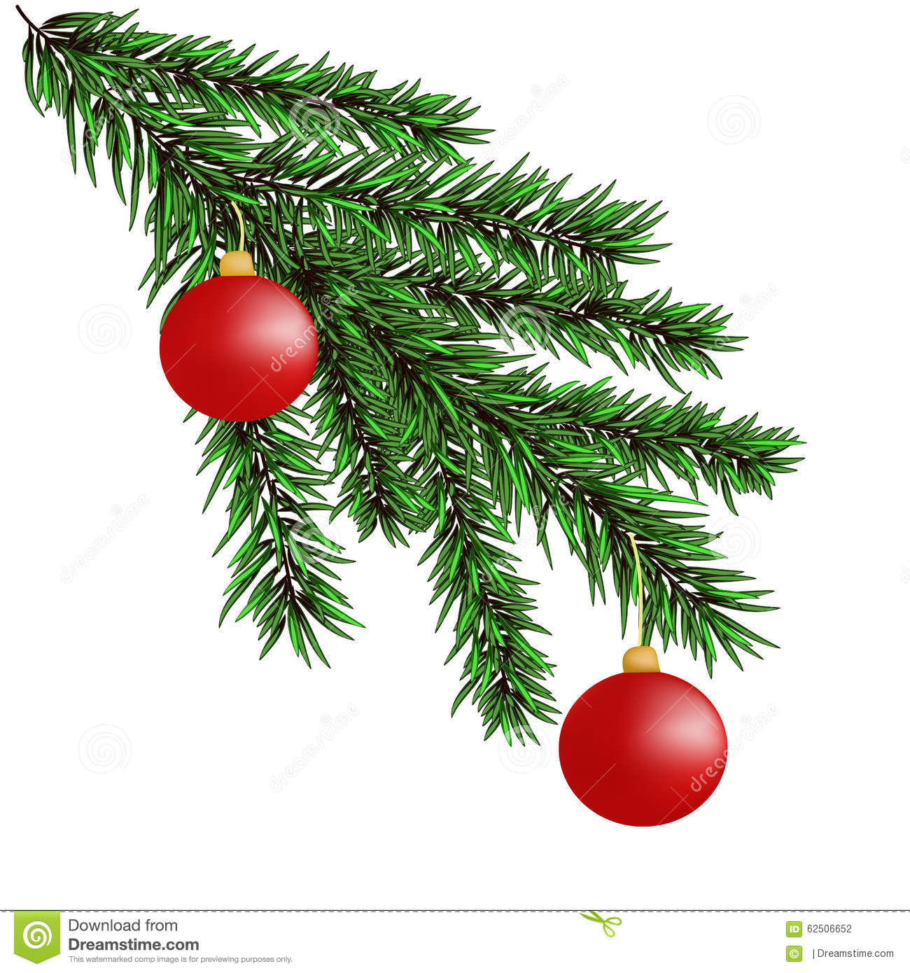 christmas tree branch vector - photo #40