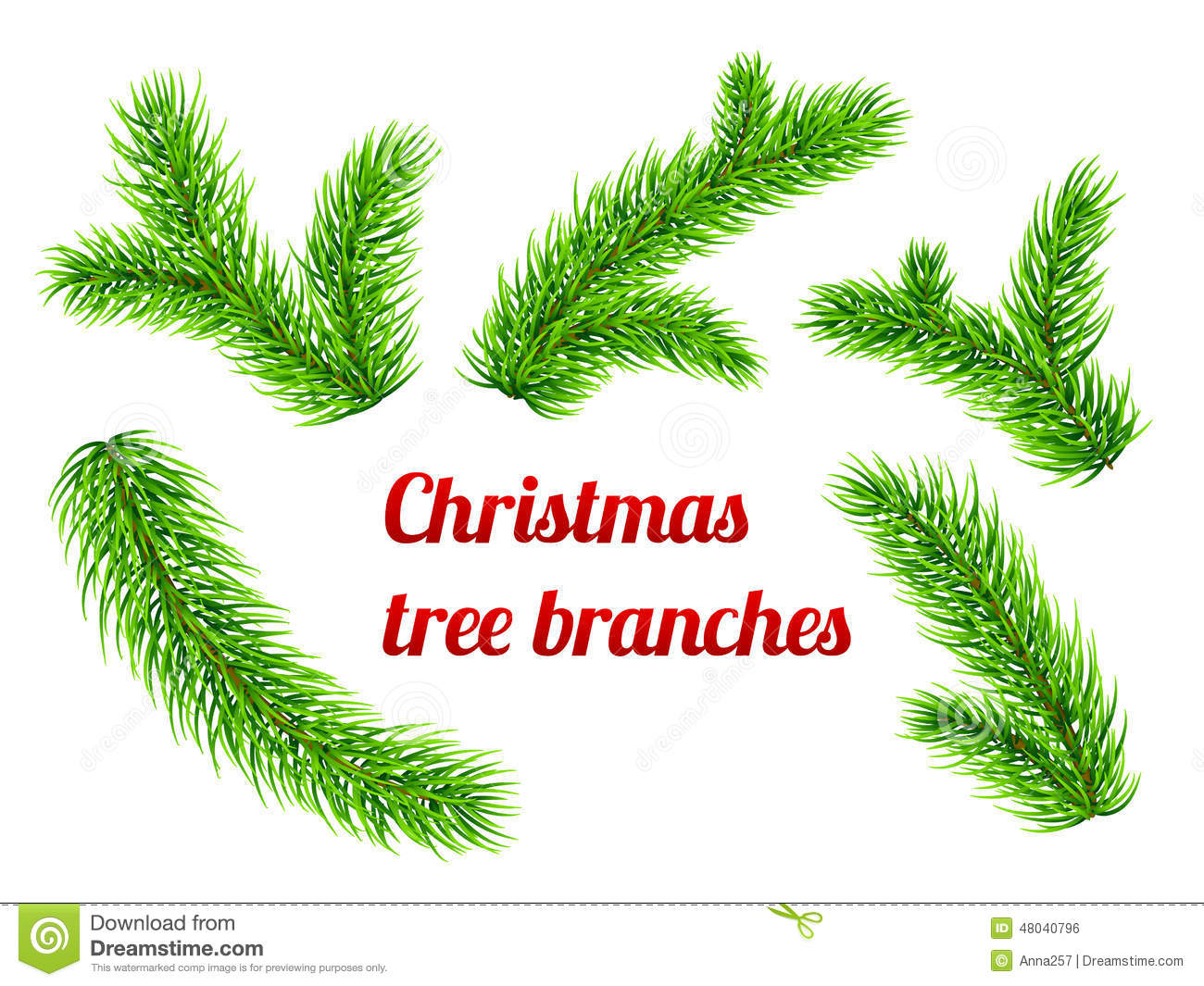 christmas tree branch vector - photo #45