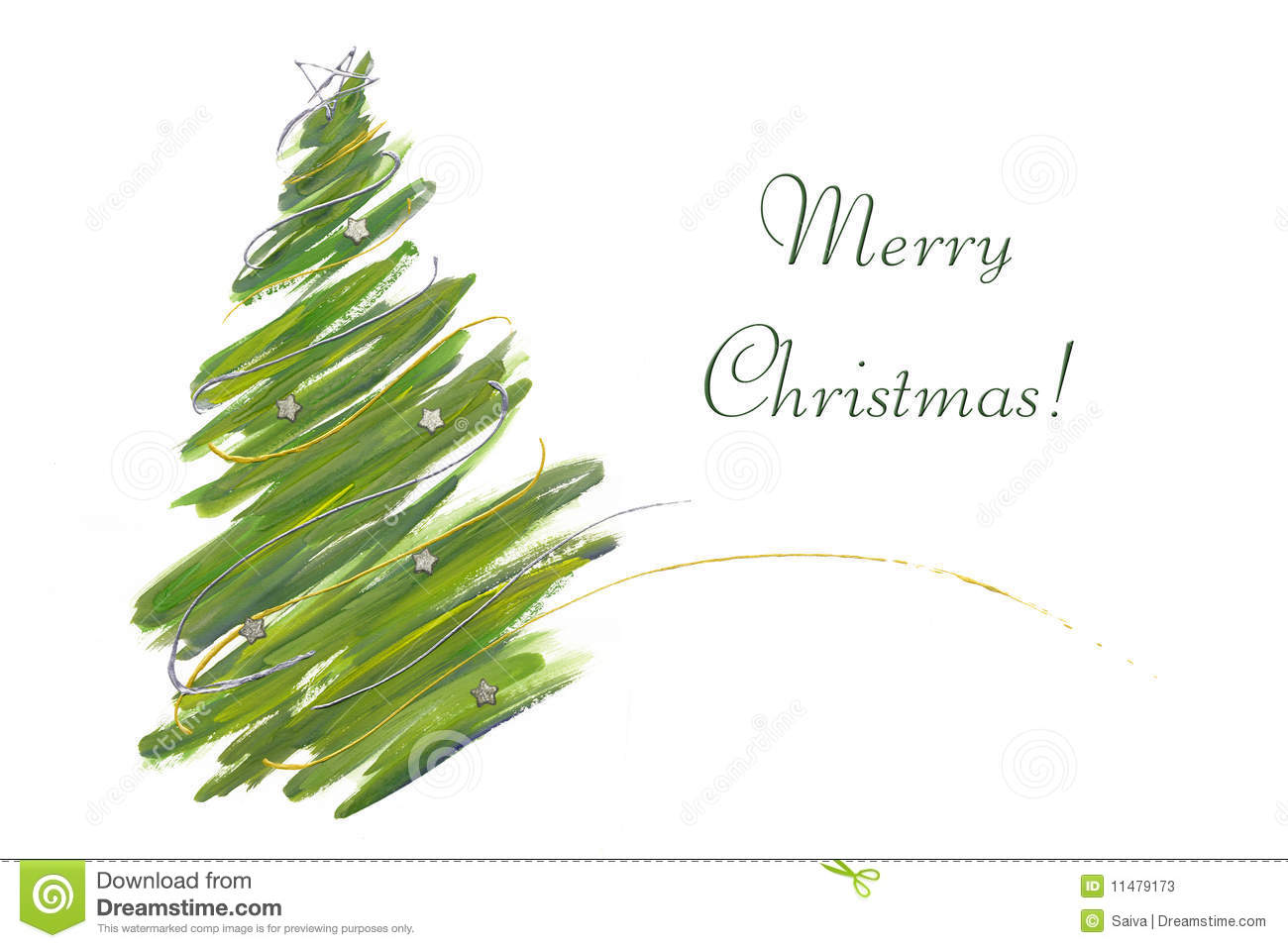 Christmas tree card stock image. Image of party, curve - 11479173