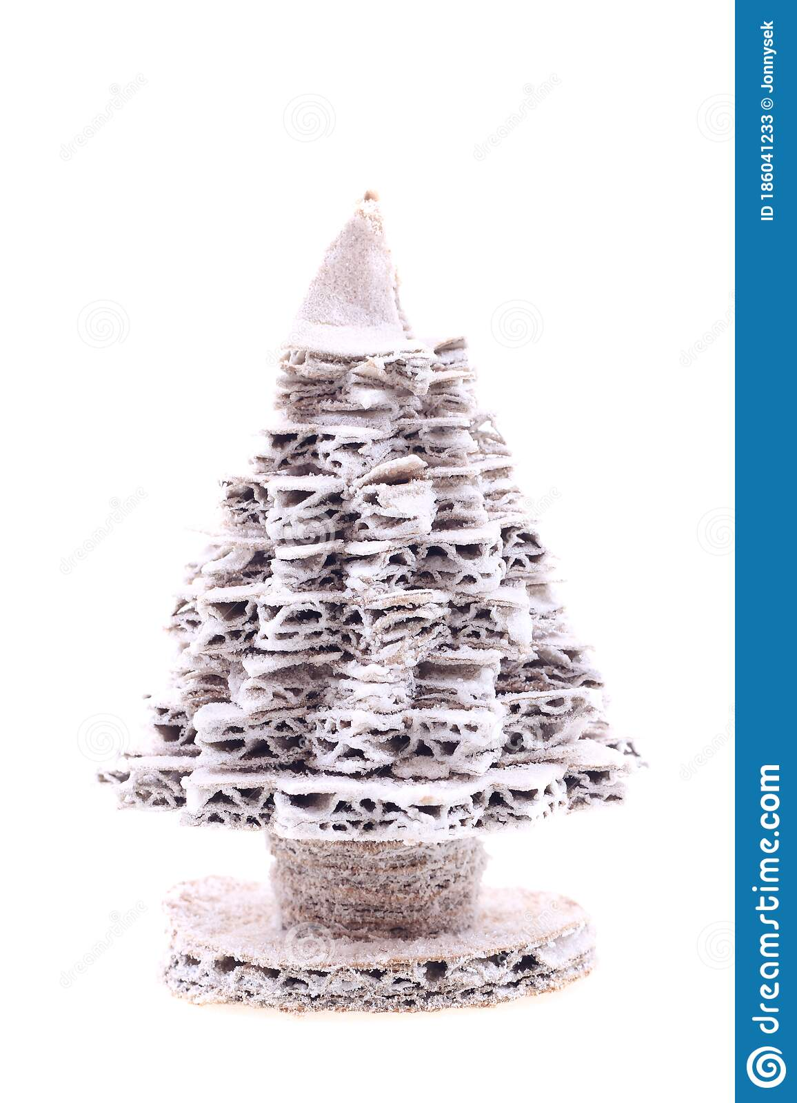 Christmas Tree From Cardboard With Salt Stock Image Image Of Wallpaper White 186041233