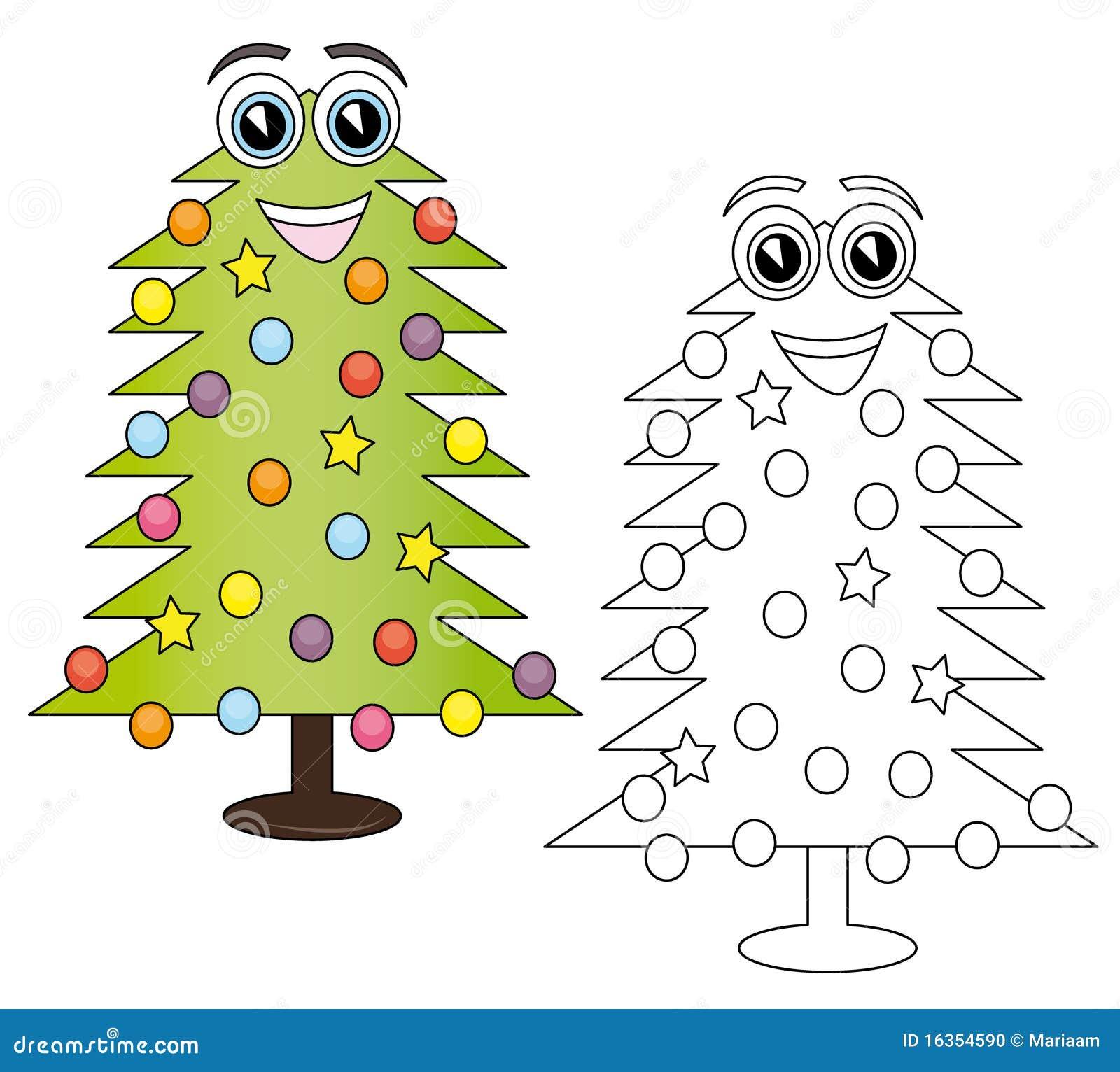 Christmas tree cartoon stock illustration. Illustration of isolated ...