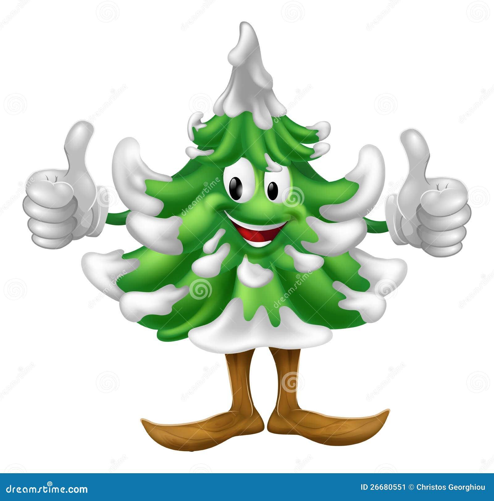 christmas tree cartoon man stock image image 26680551