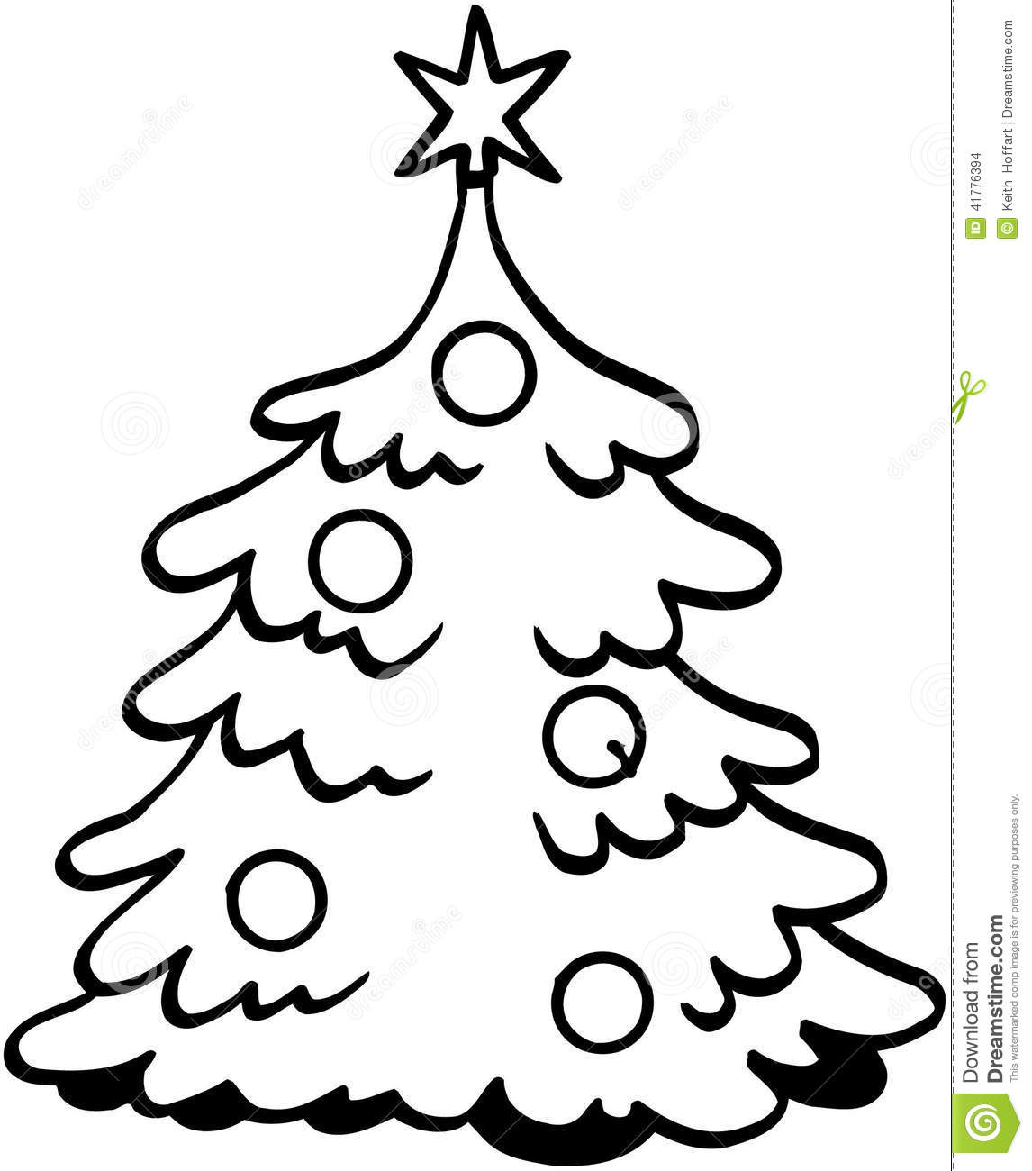 christmas tree cartoon vector clipart stock vector illustration of holidays stockings 41776394 dreamstime com