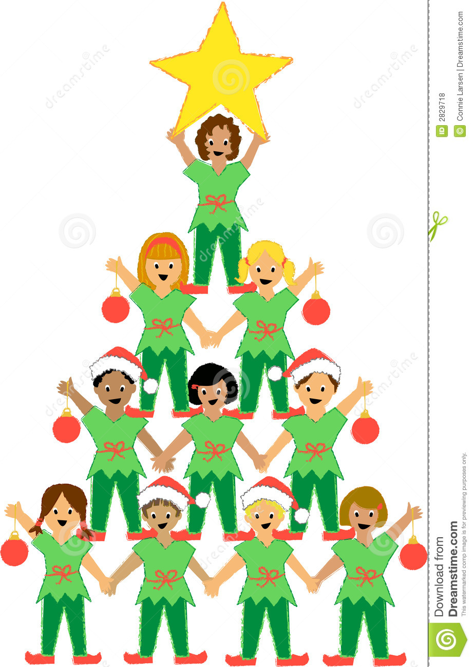 Christmas Tree Of Children Royalty Free Stock Photos - Image: 2829718