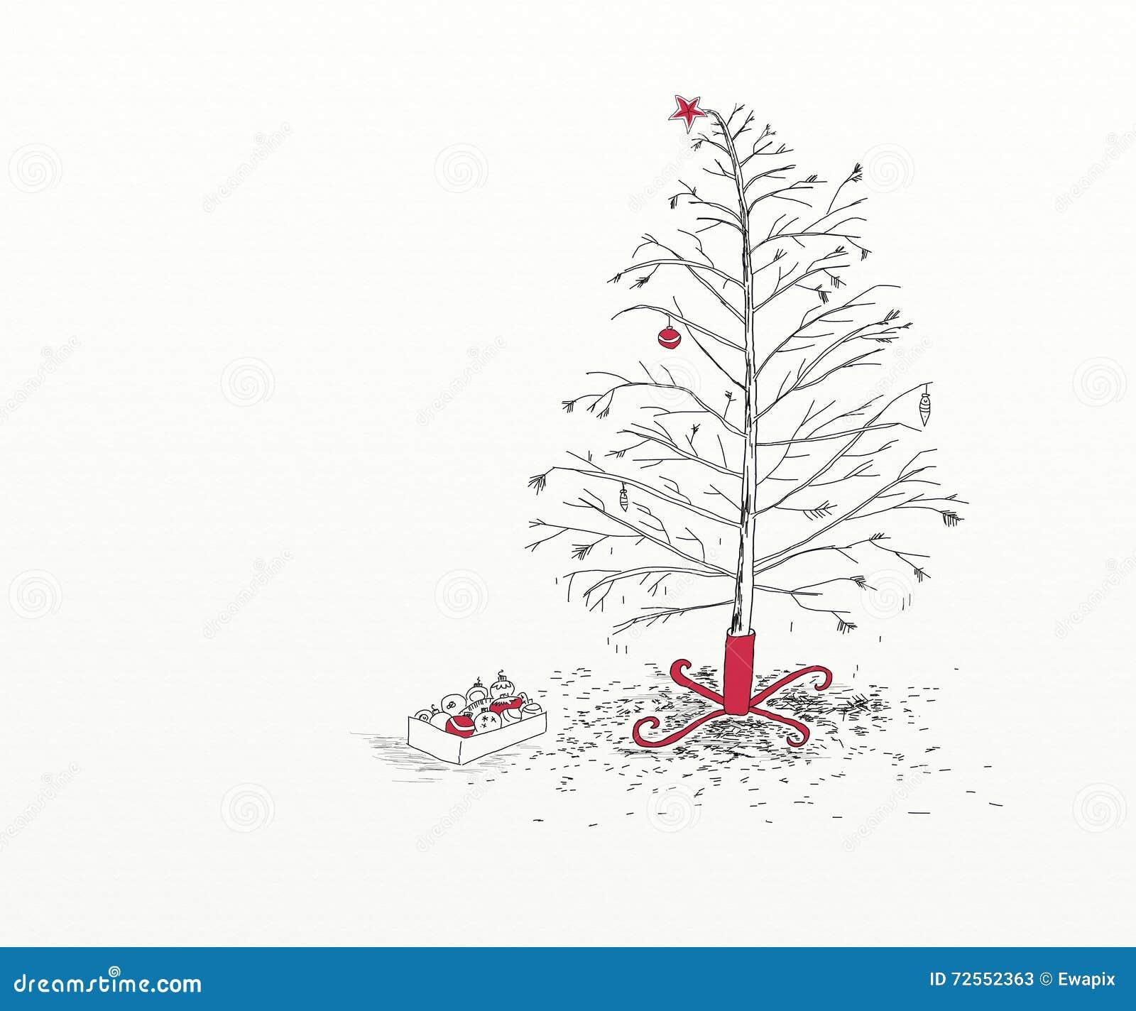 Christmas Tree After Christmas Stock Illustration - Image: 72552363