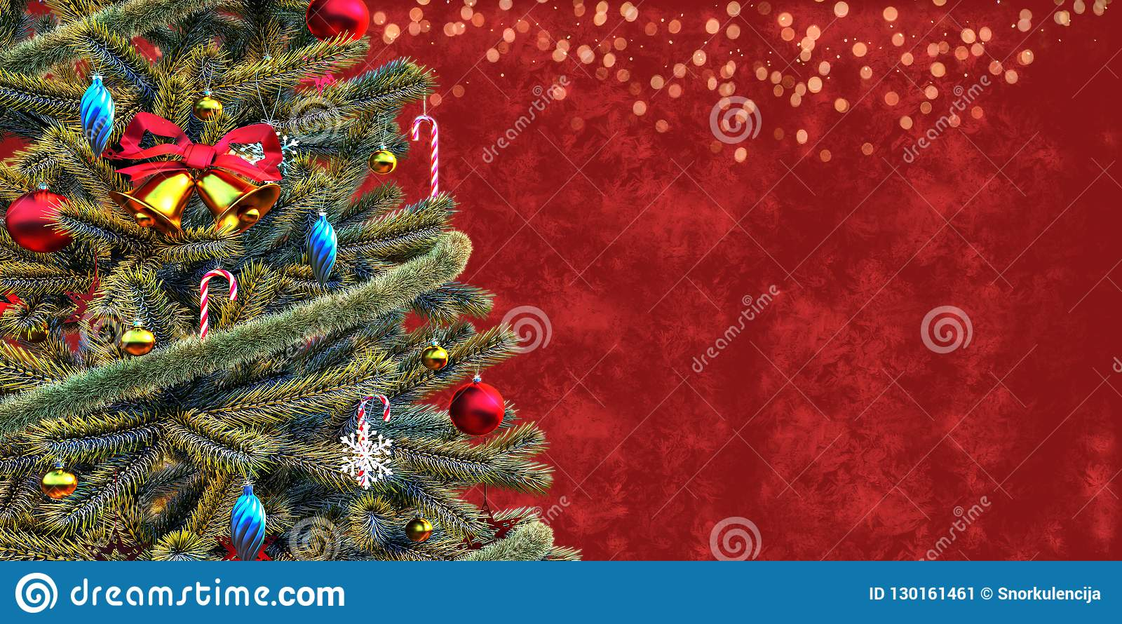 Christmas Tree Close Up Gift Card Template Stock Image Image Of