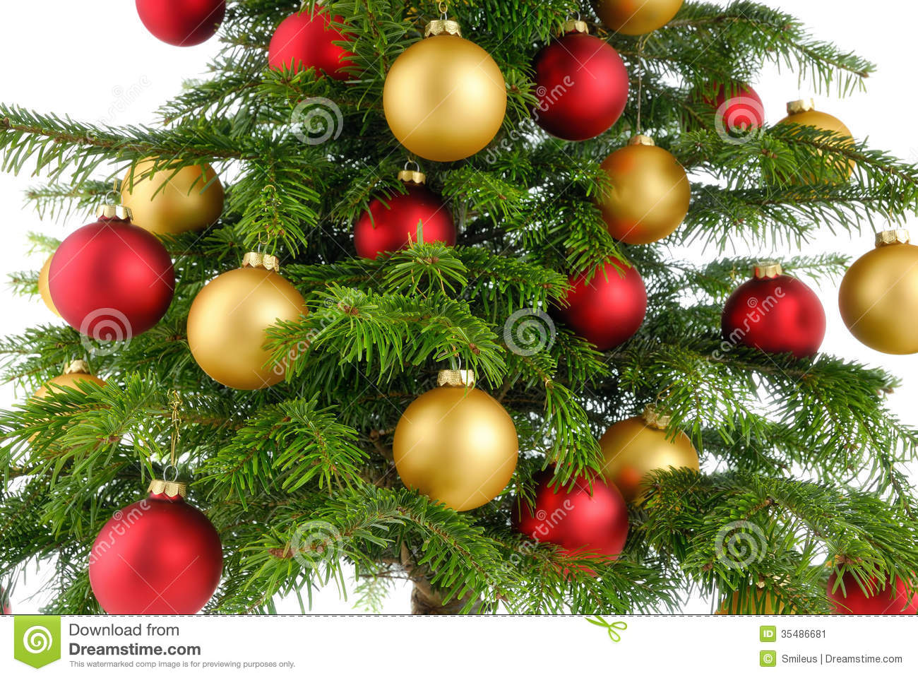 Christmas tree decor red and gold - Christmas Gold Red Studio Tree