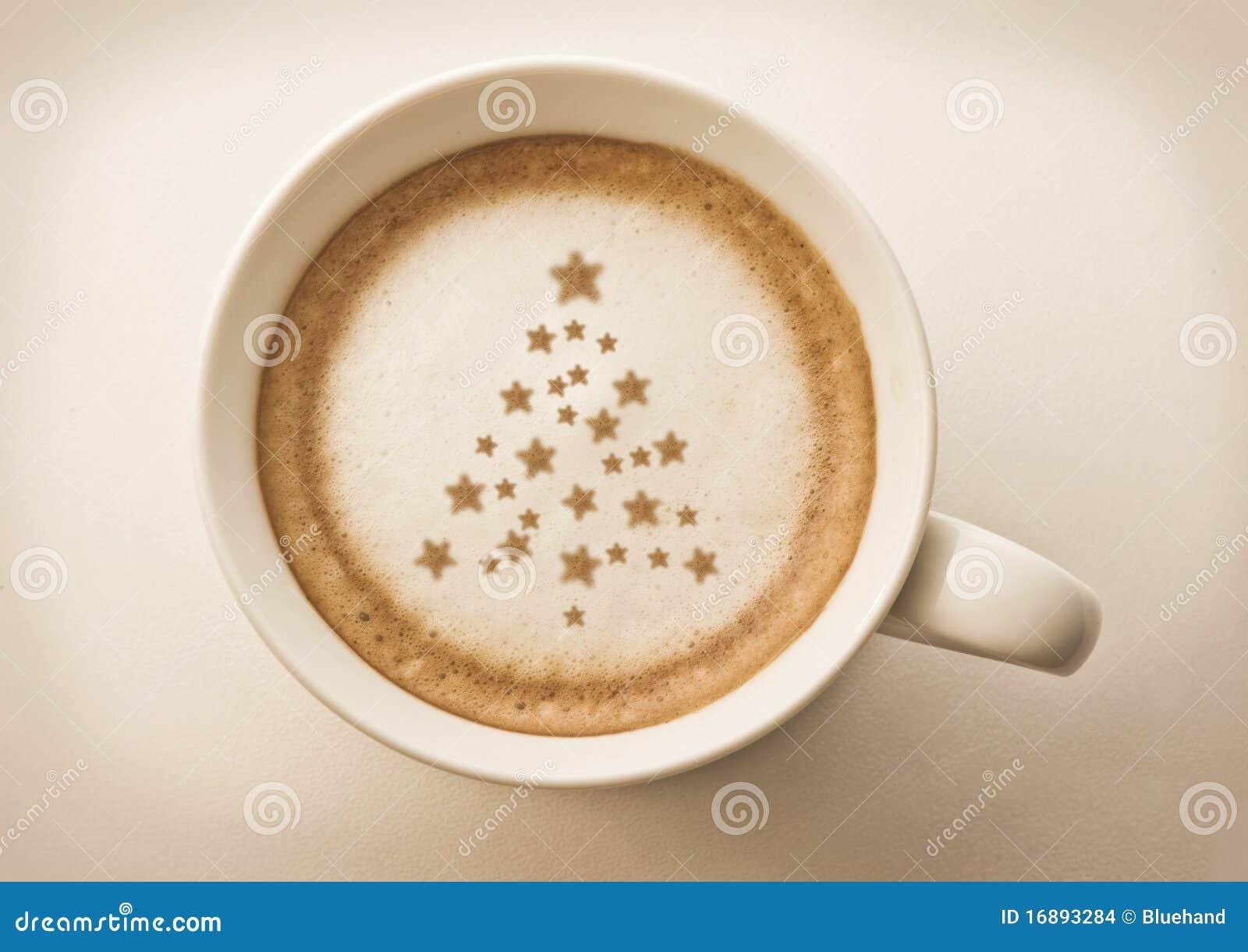 Christmas tree Coffee latte art