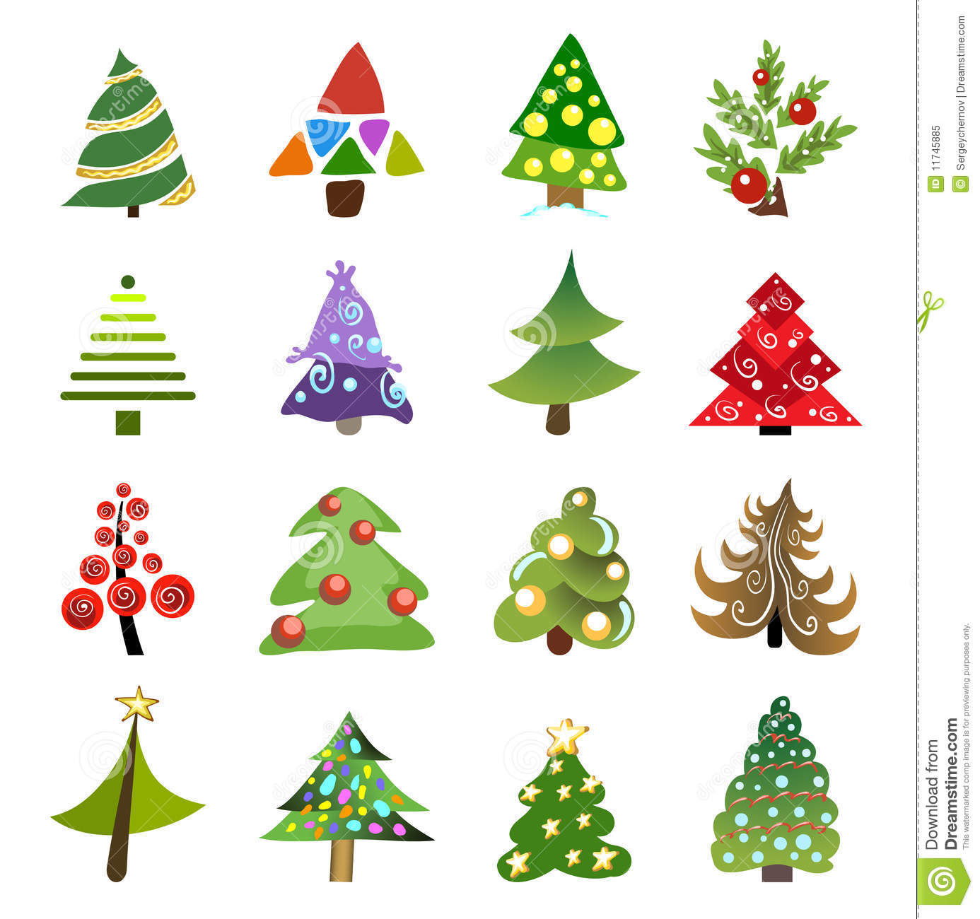 Christmas Tree Collection Gravesend : Christmas tree collection royalty free stock photo image
