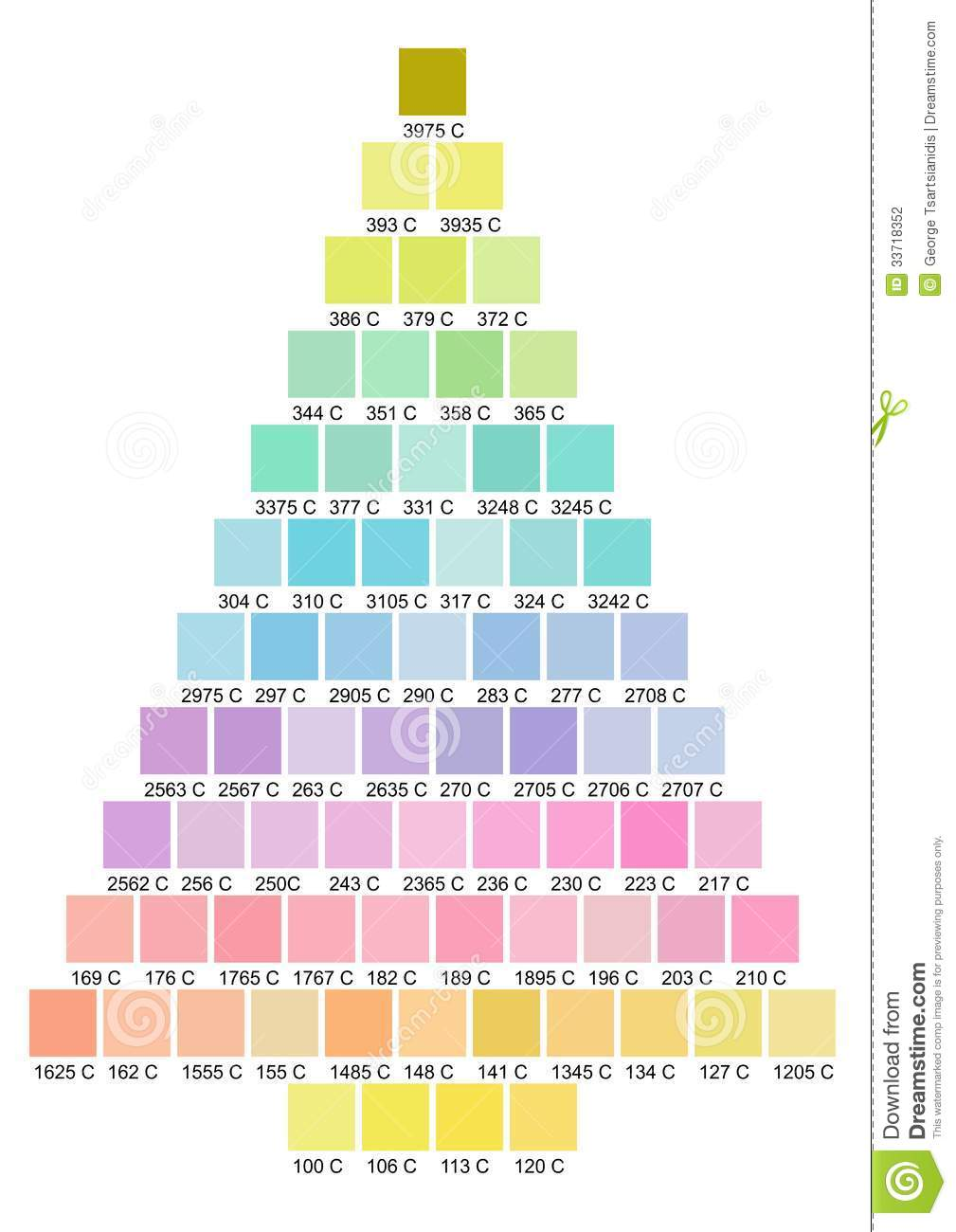 Christmas Tree Color Palette Stock Photography - Image: 33718352