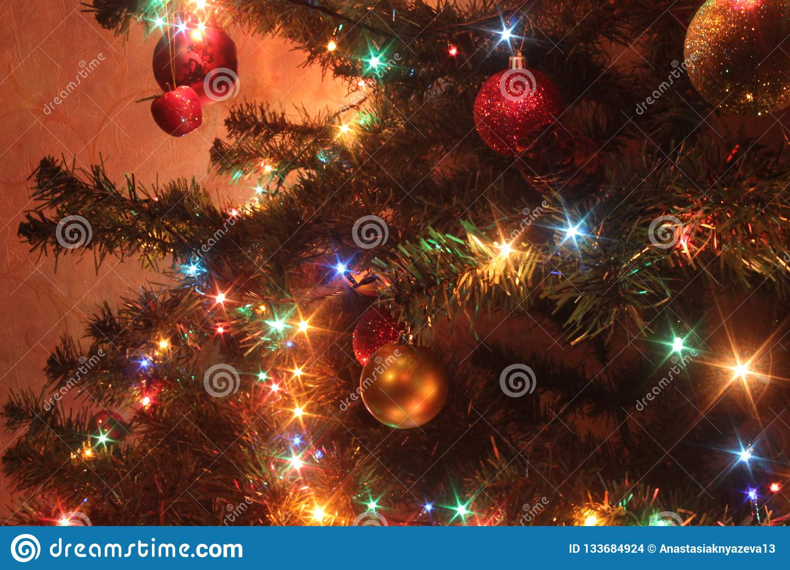 6 326 Christmas Tree Colored Lights Photos Free Royalty Free Stock Photos From Dreamstime