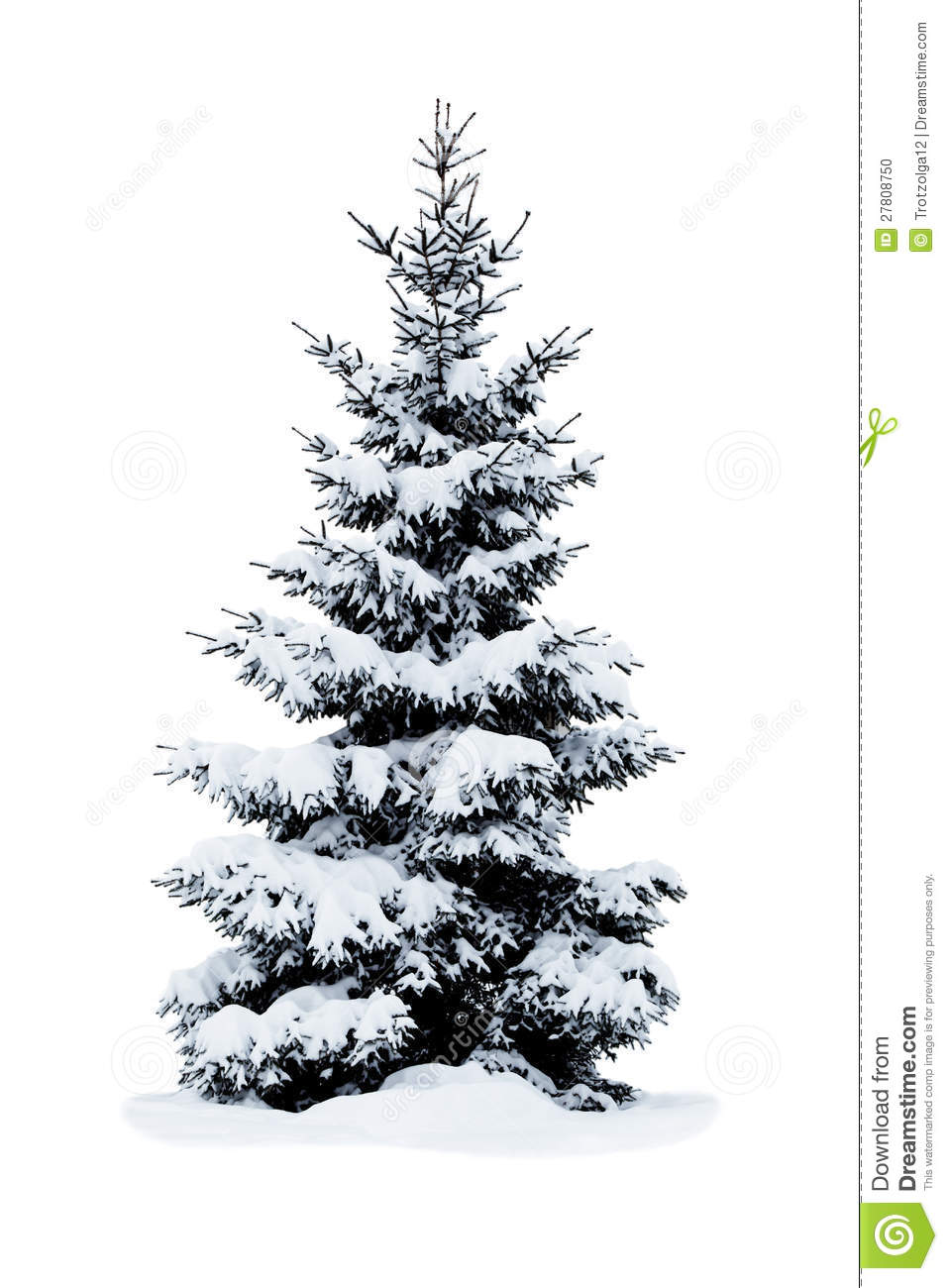 More similar stock images of christmas tree covered with snow