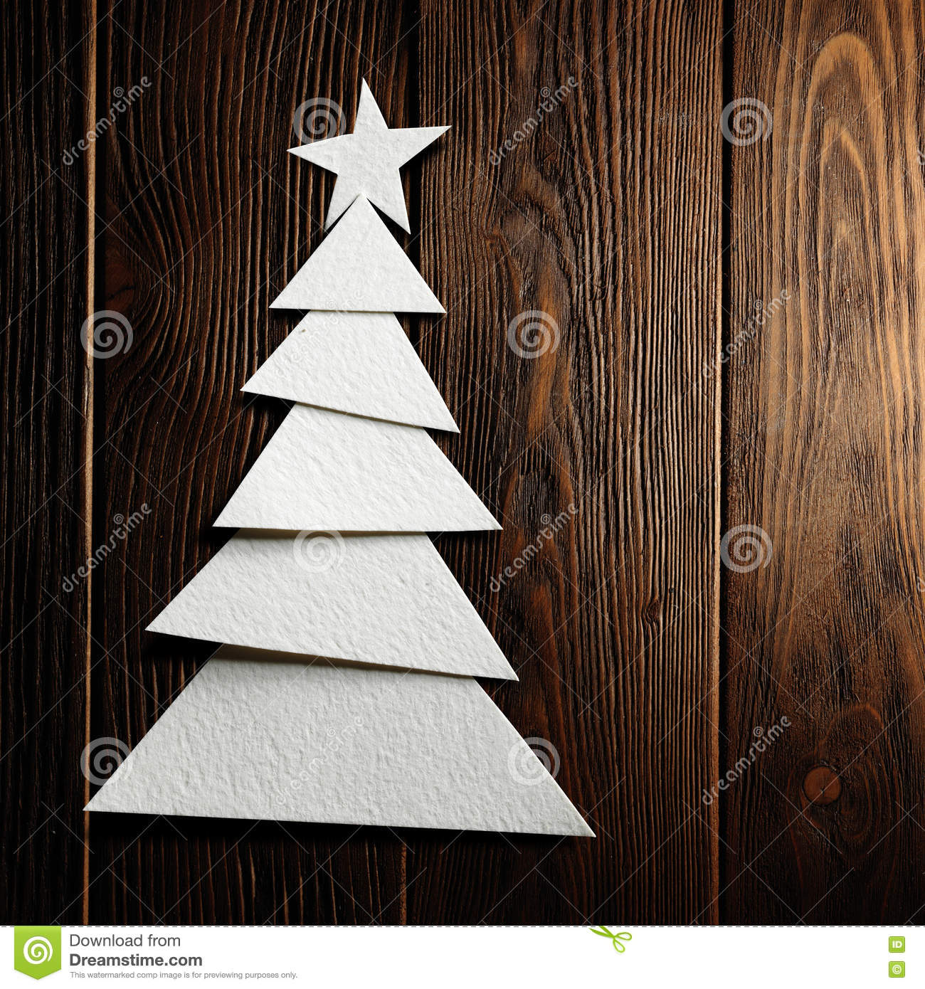 Wood christmas tree cutout - Background Christmas Cut Paper Tree Wooden