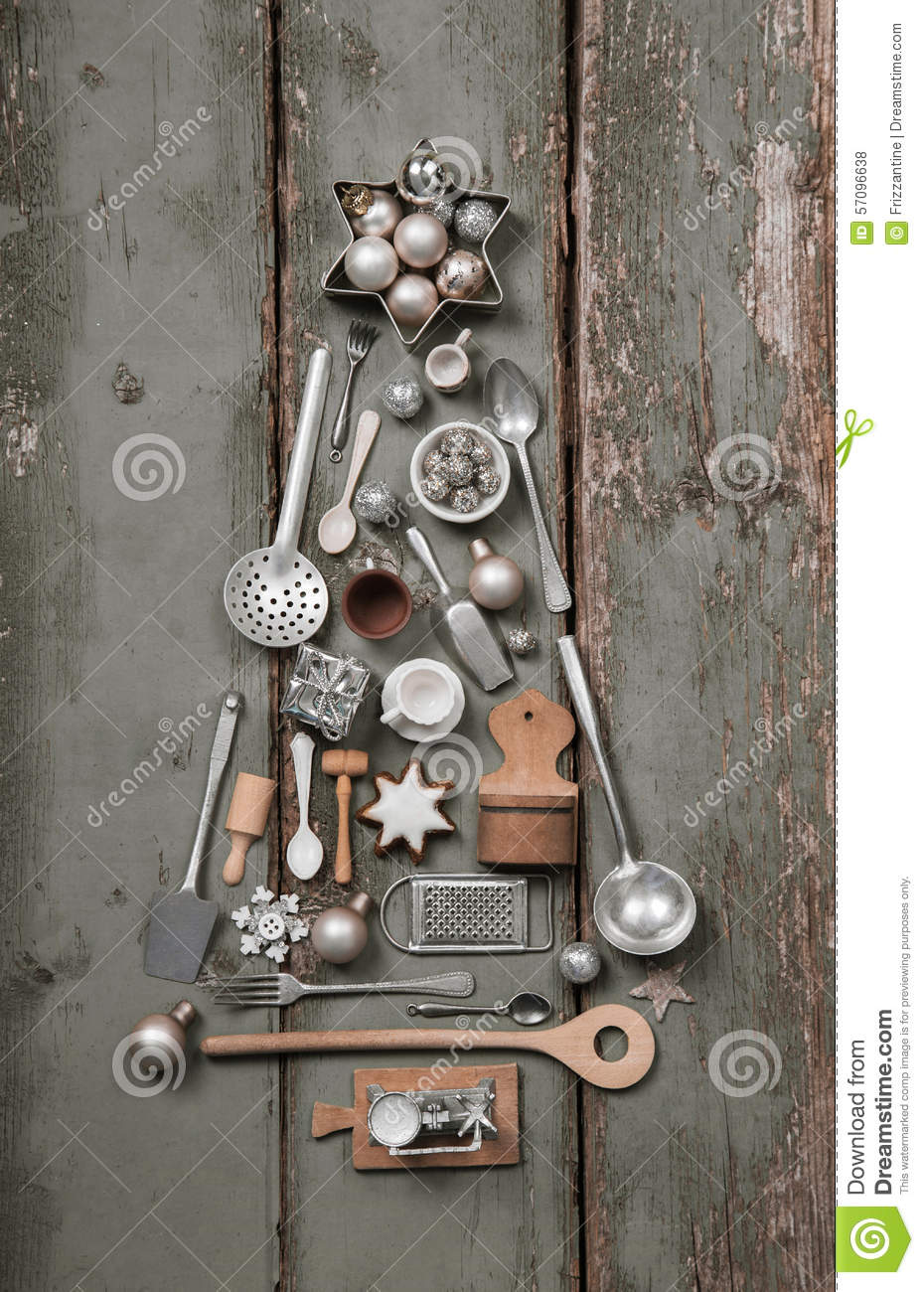 Vintage Decoration Of Ancient Kitchen Equipment With