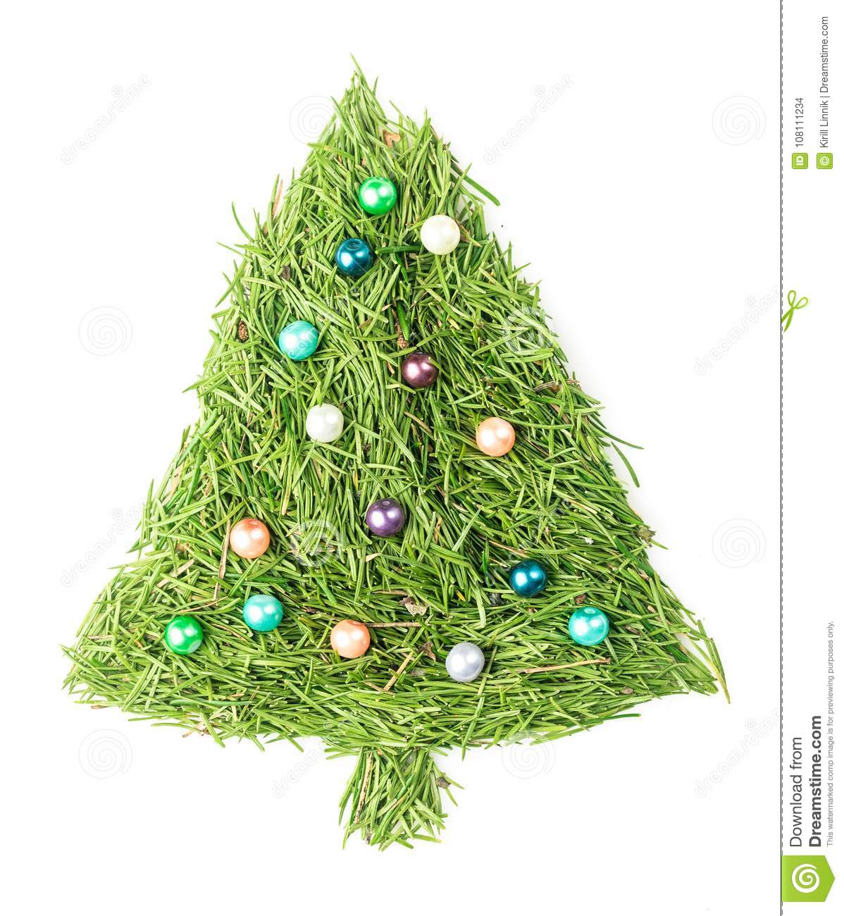 Download Christmas tree decorated stock photo. Image of natural - 108111234