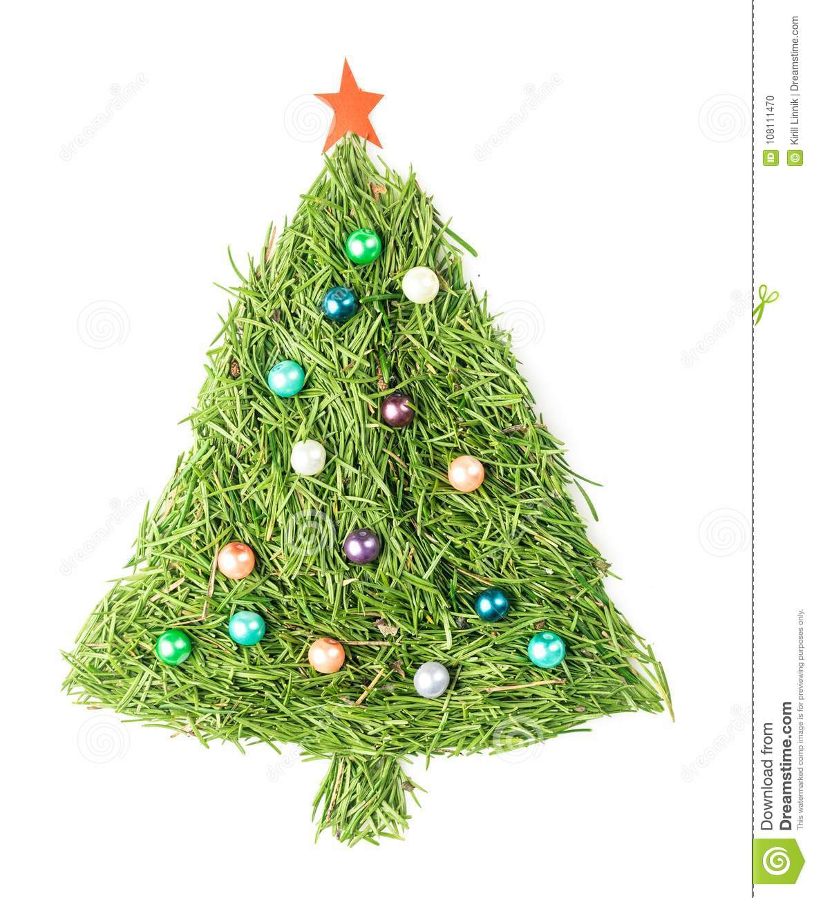 Download Christmas tree decorated stock photo. Image of background - 108111470