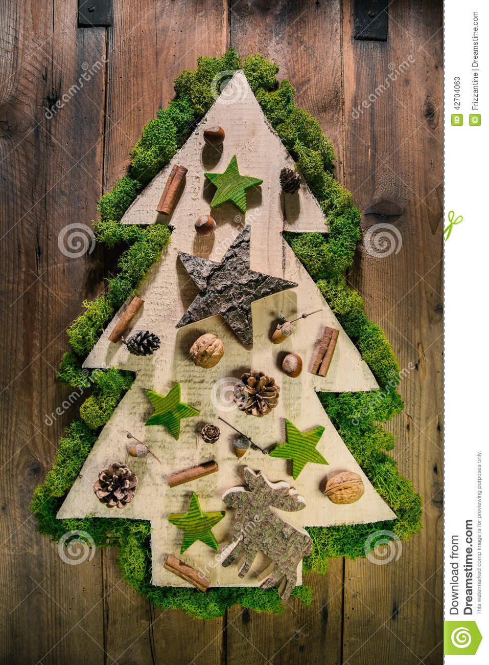 Christmas Tree Decorated With Natural Material From The
