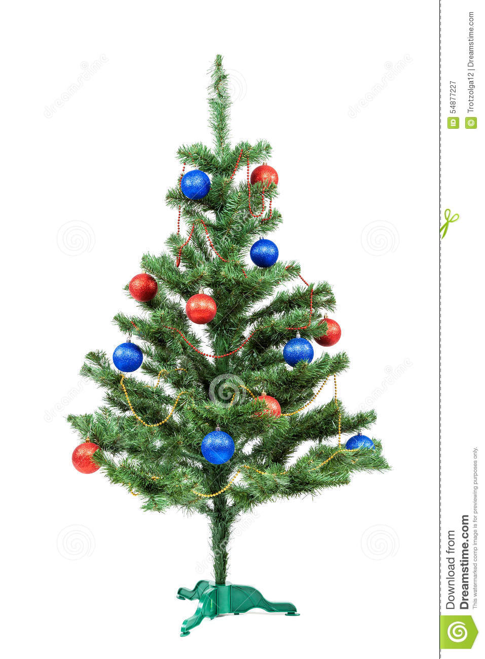 download christmas tree decorated red and blue balls stock image image of ball
