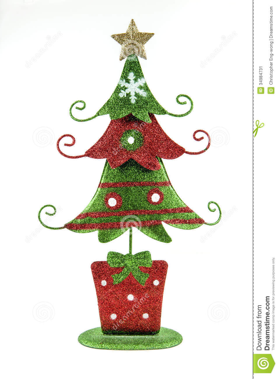 Christmas tree decoration stock image of xmas