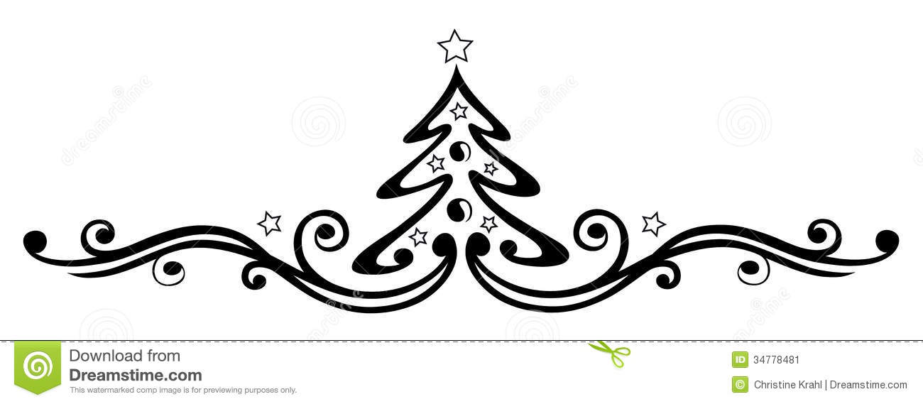 christmas tree stock vector  illustration of artwork