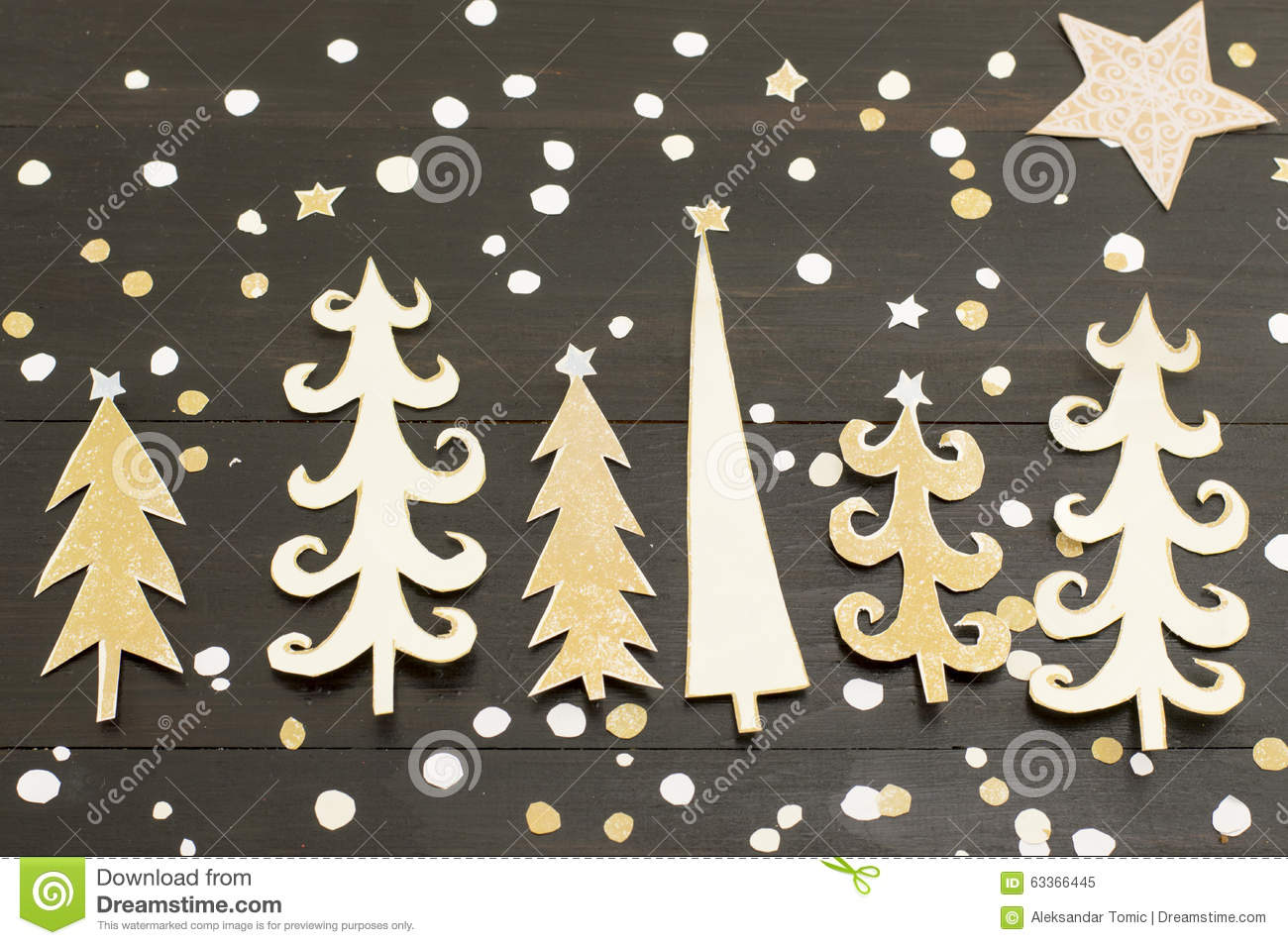 Christmas Tree Decoration Made Out Of Paper Stock Photo - Image ...
