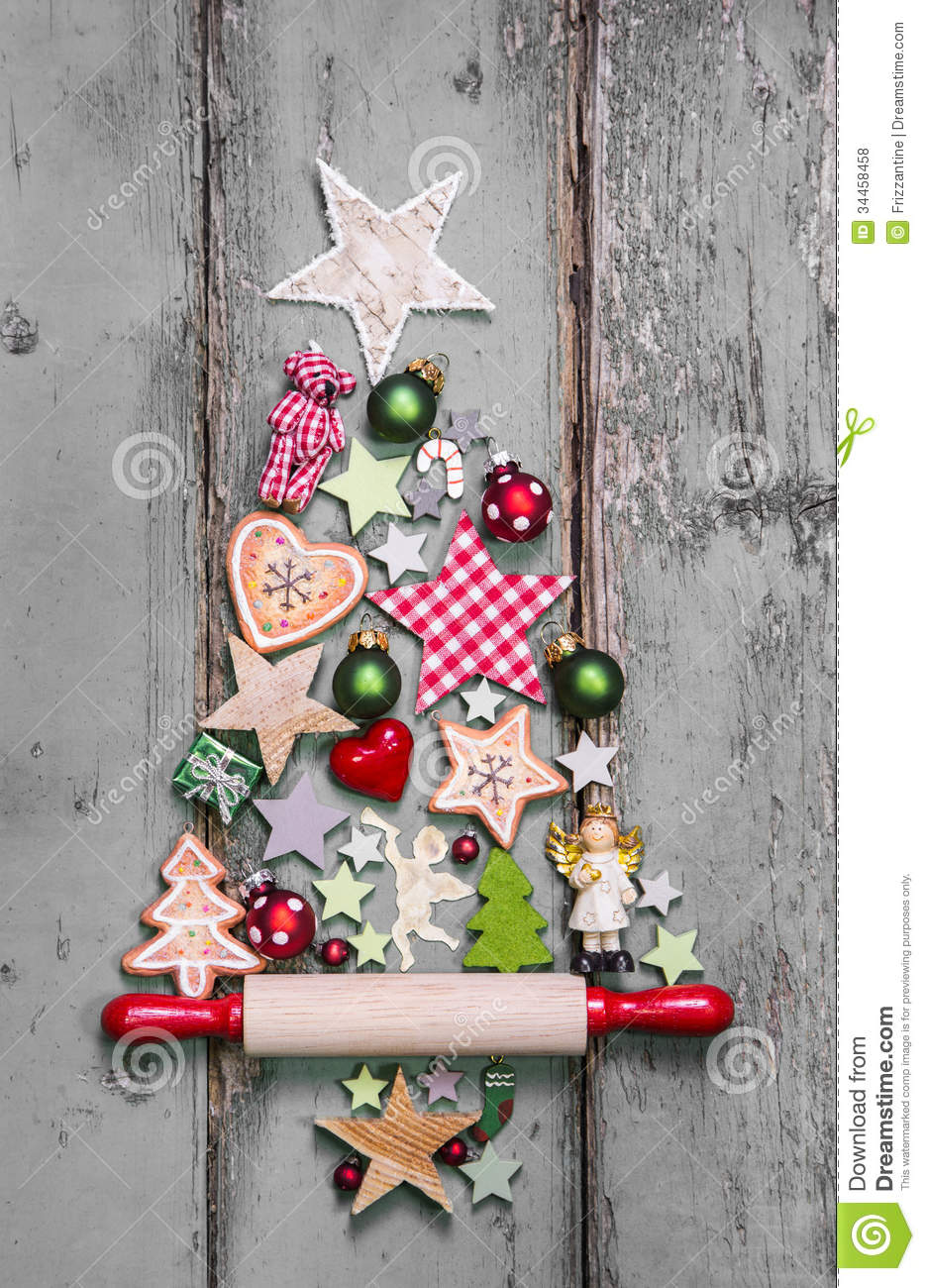 Christmas tree decoration in shabby chic style an idea for Country chic christmas