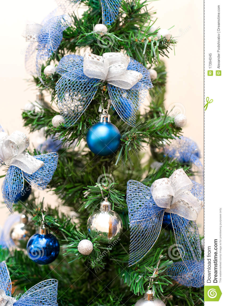 Red christmas tree decorations - Silver And Blue Christmas Tree Christmas Tree With Blue And
