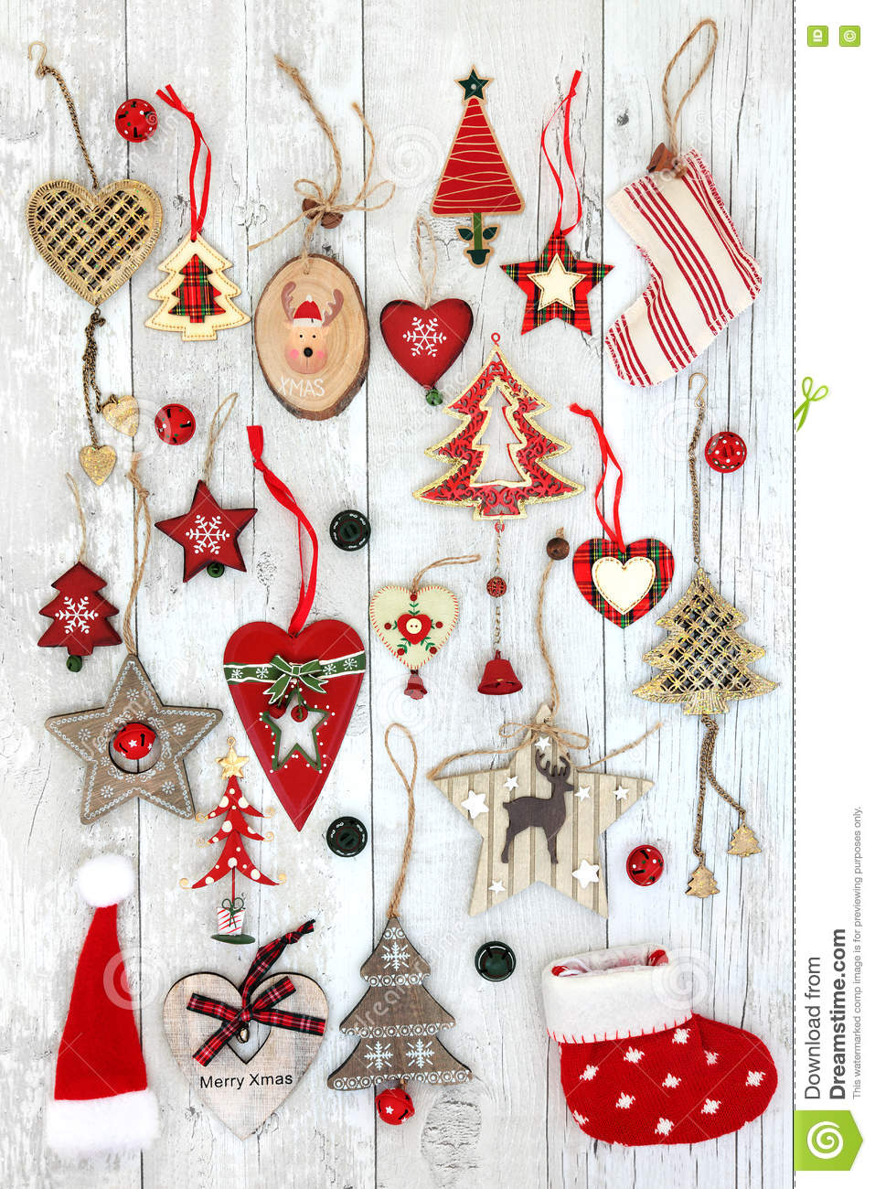 Christmas Tree Decorations Abstract Background Stock Image ...