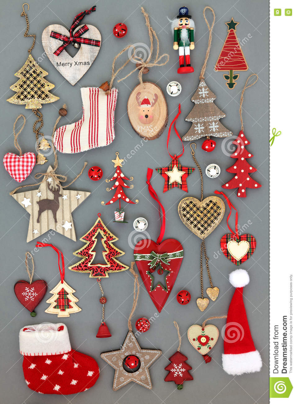 Christmas Tree Decorations stock photo. Image of fashioned - 75499362