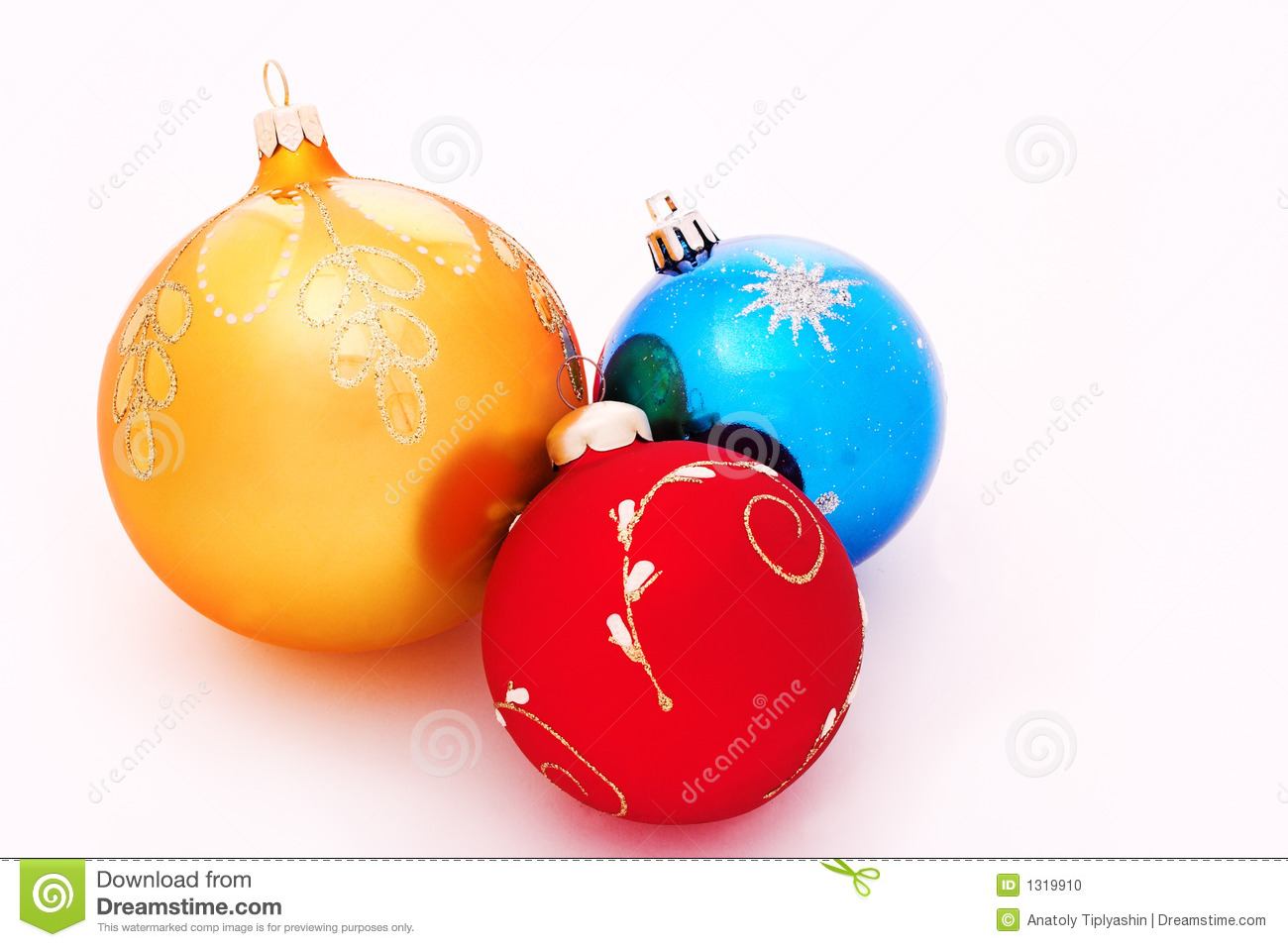Christmas tree decorations balls stock photo image