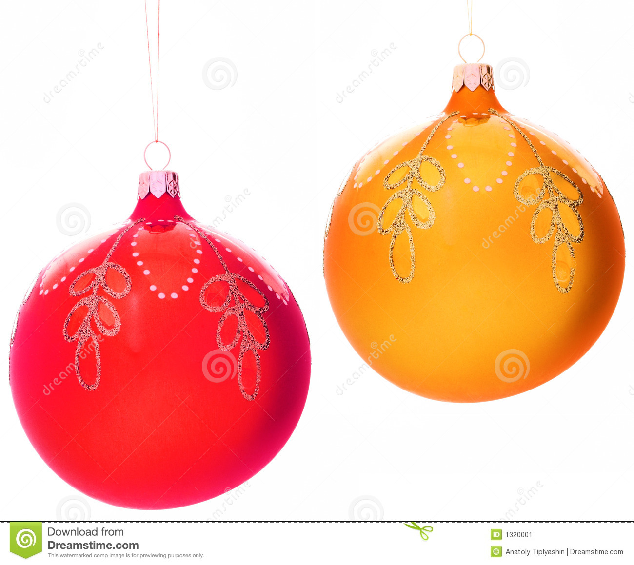 Christmas tree Decorations Balls Stock Image Image 1320001