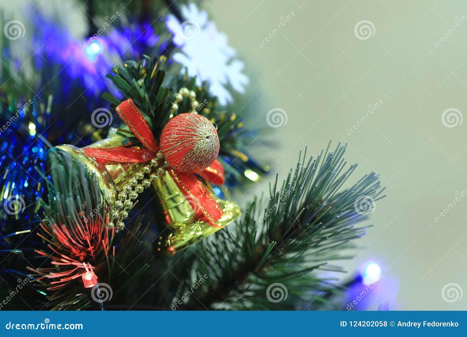 Christmas tree decorations balls hearts tinsel garland